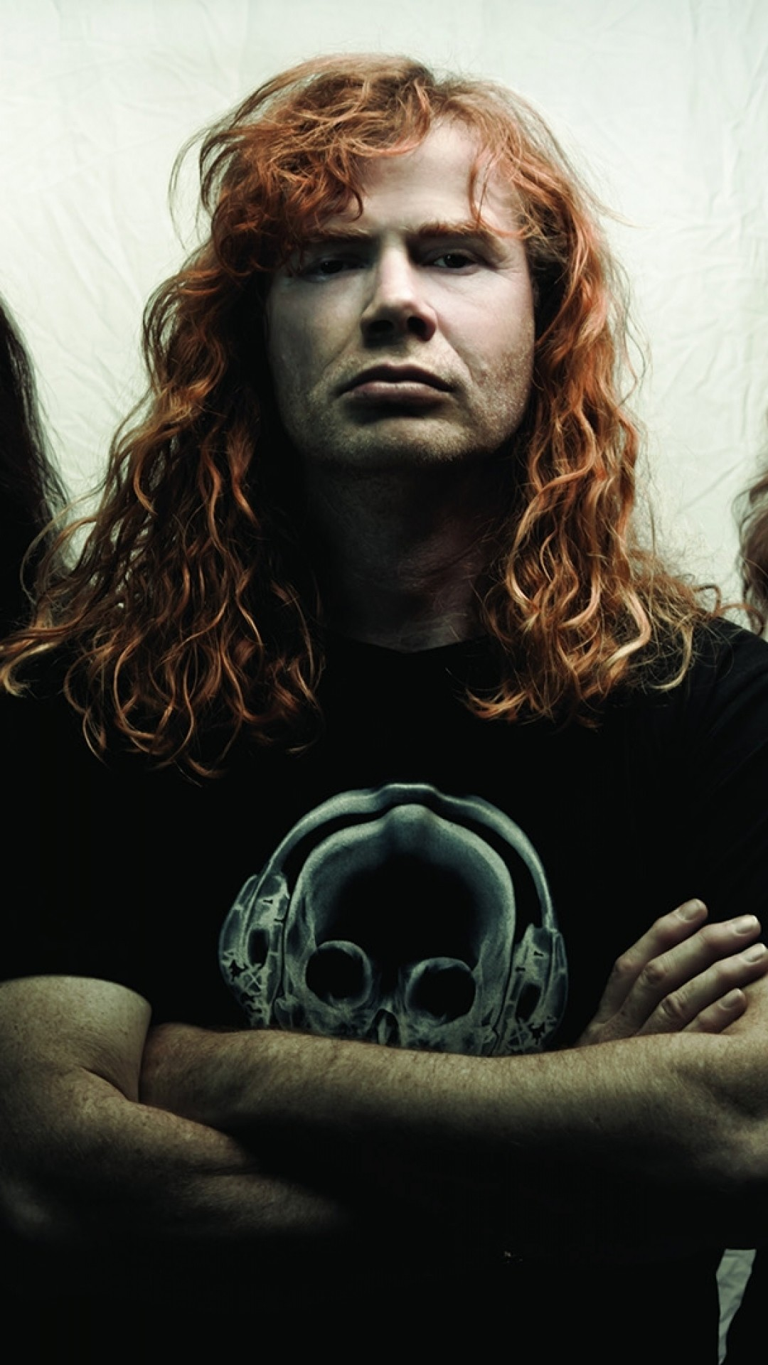 1080x1920 Preview wallpaper megadeth, print, t-shirts, hair, rockers