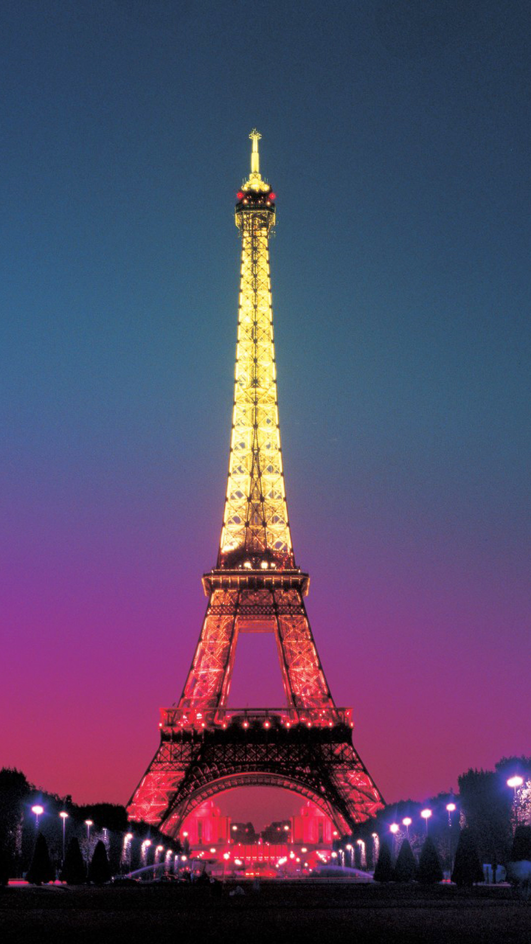 1080x1920 Colorful Light On Eiffel Tower