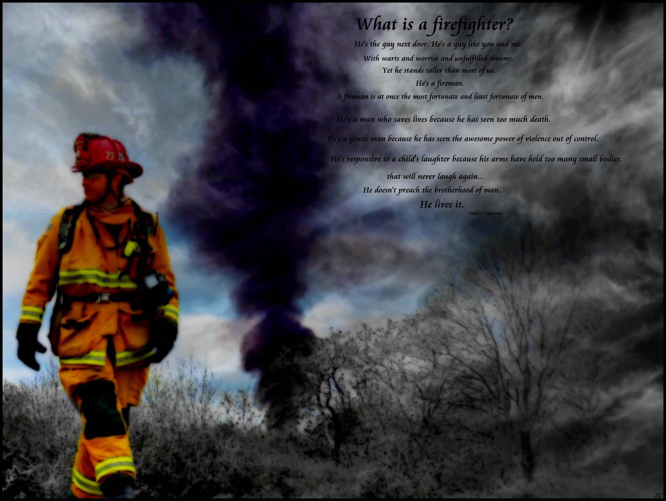 2580x1940 Firefighter Prayer Wallpaper Firefighter wallpaper