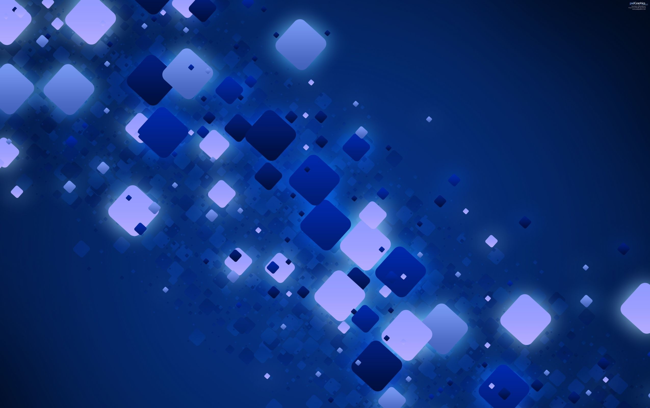 2550x1600 Blue Abstract Light 3D Background