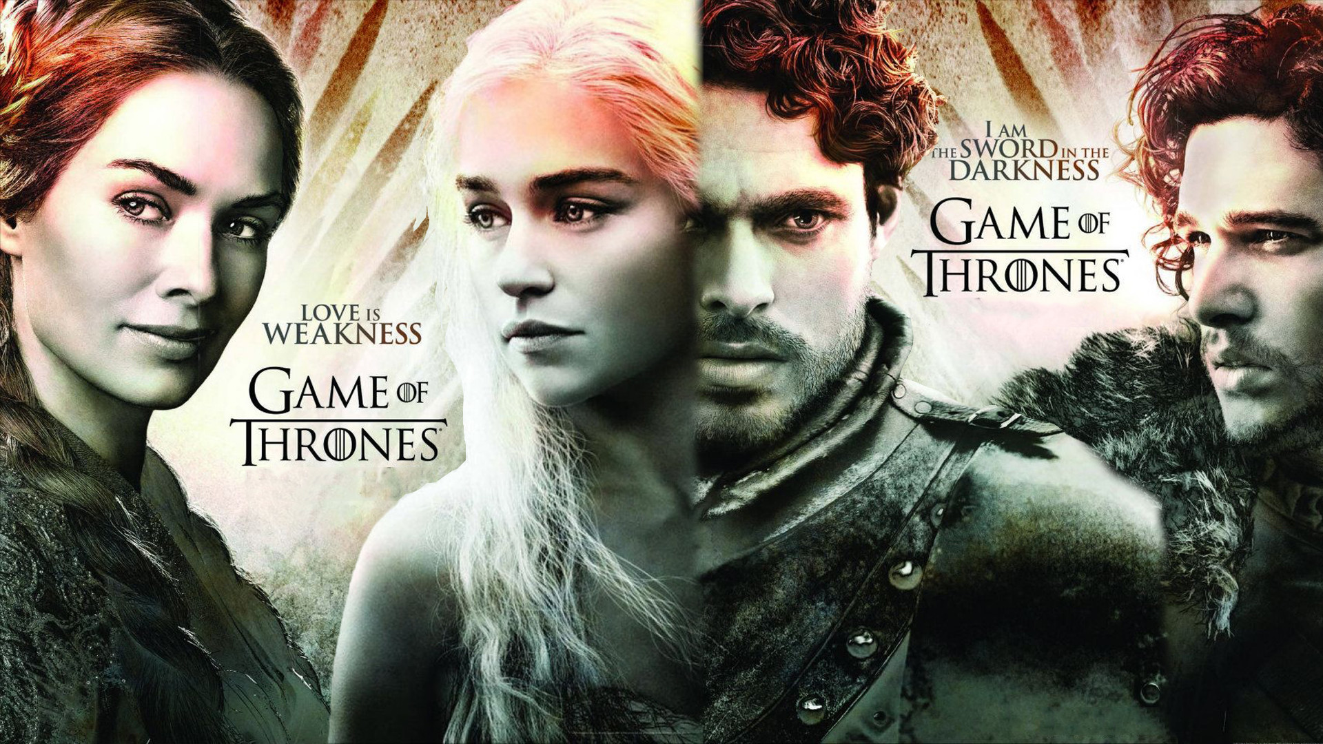 1920x1080 TV Show - Game Of Thrones Jon Snow Richard Madden Robb Stark Kit Harington  Emilia Clarke