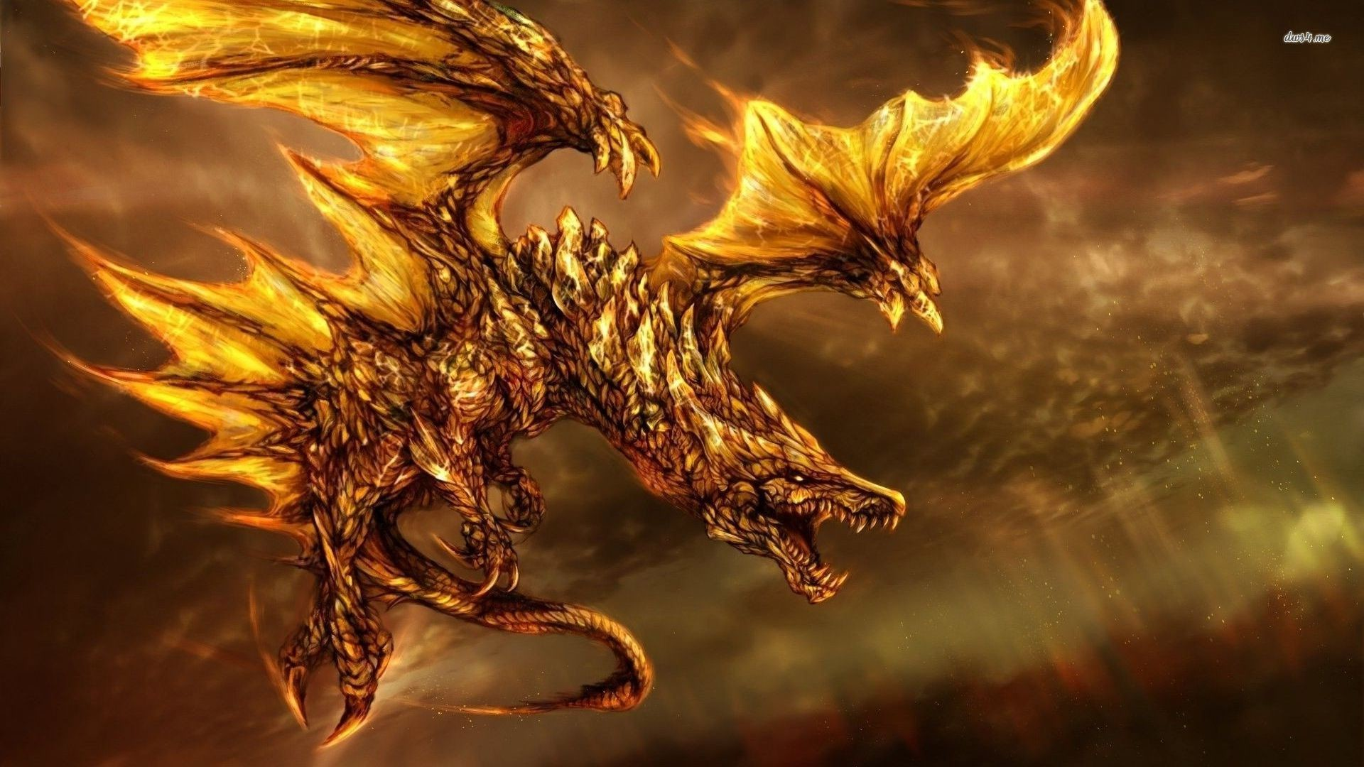 1920x1080 Fire breathing dragon wallpaper - Fantasy wallpapers - #23659