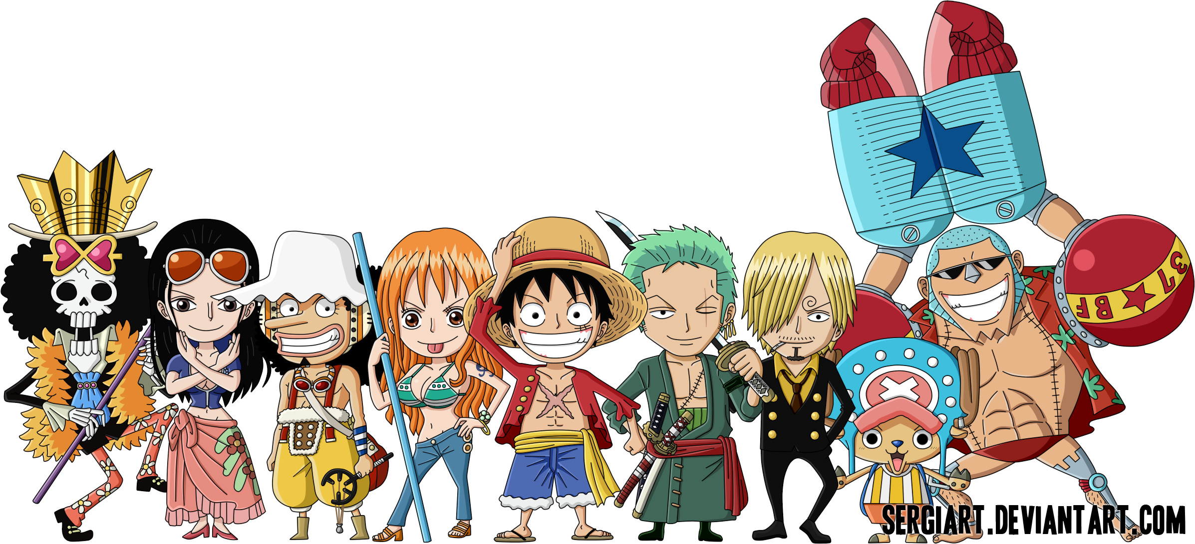 2394x1091 ... (Original size). Tags: #one piece wallpaper chibi · «