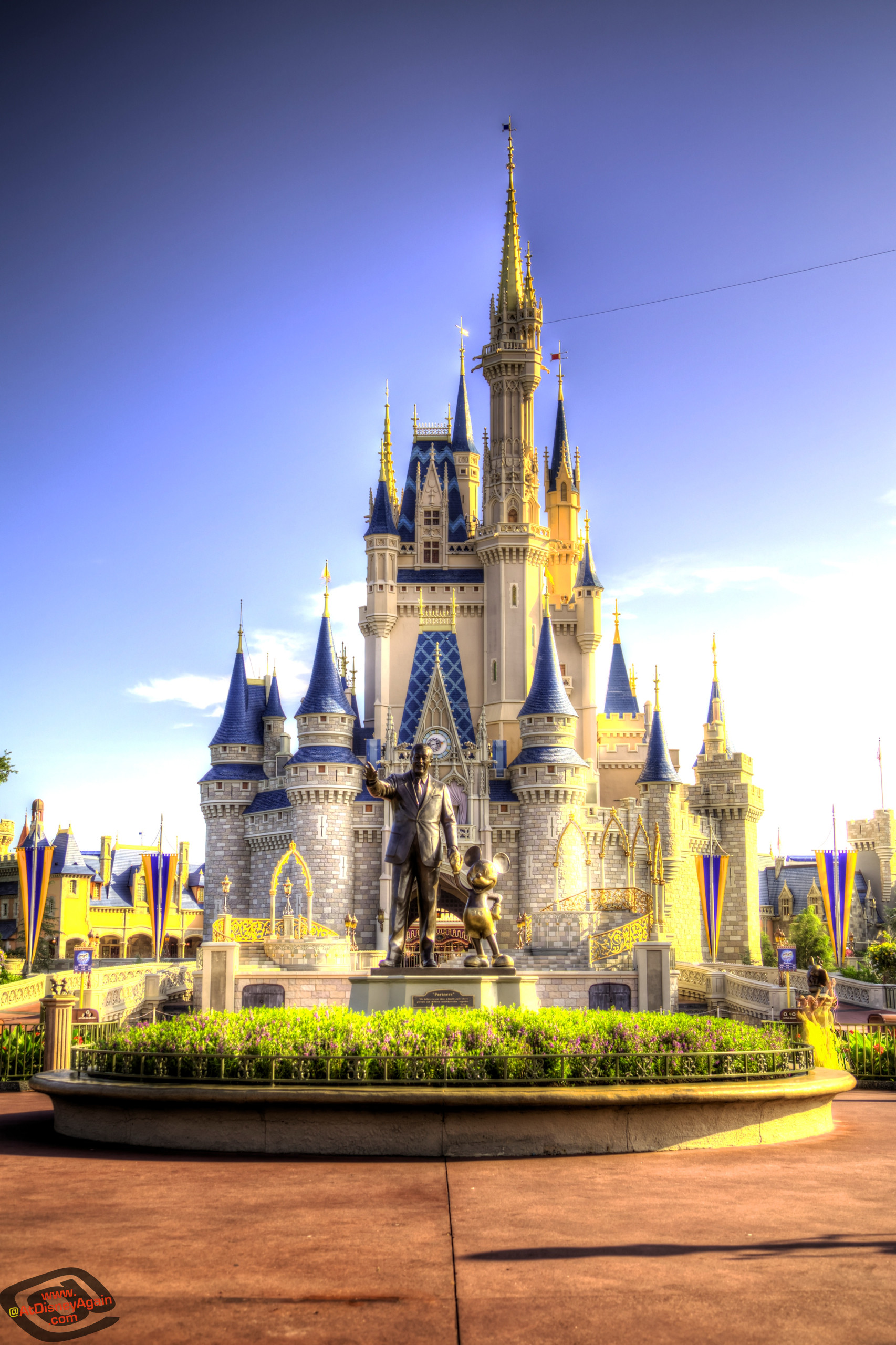 1706x2560 Daytime Cinderella Castle Wallpaper 027