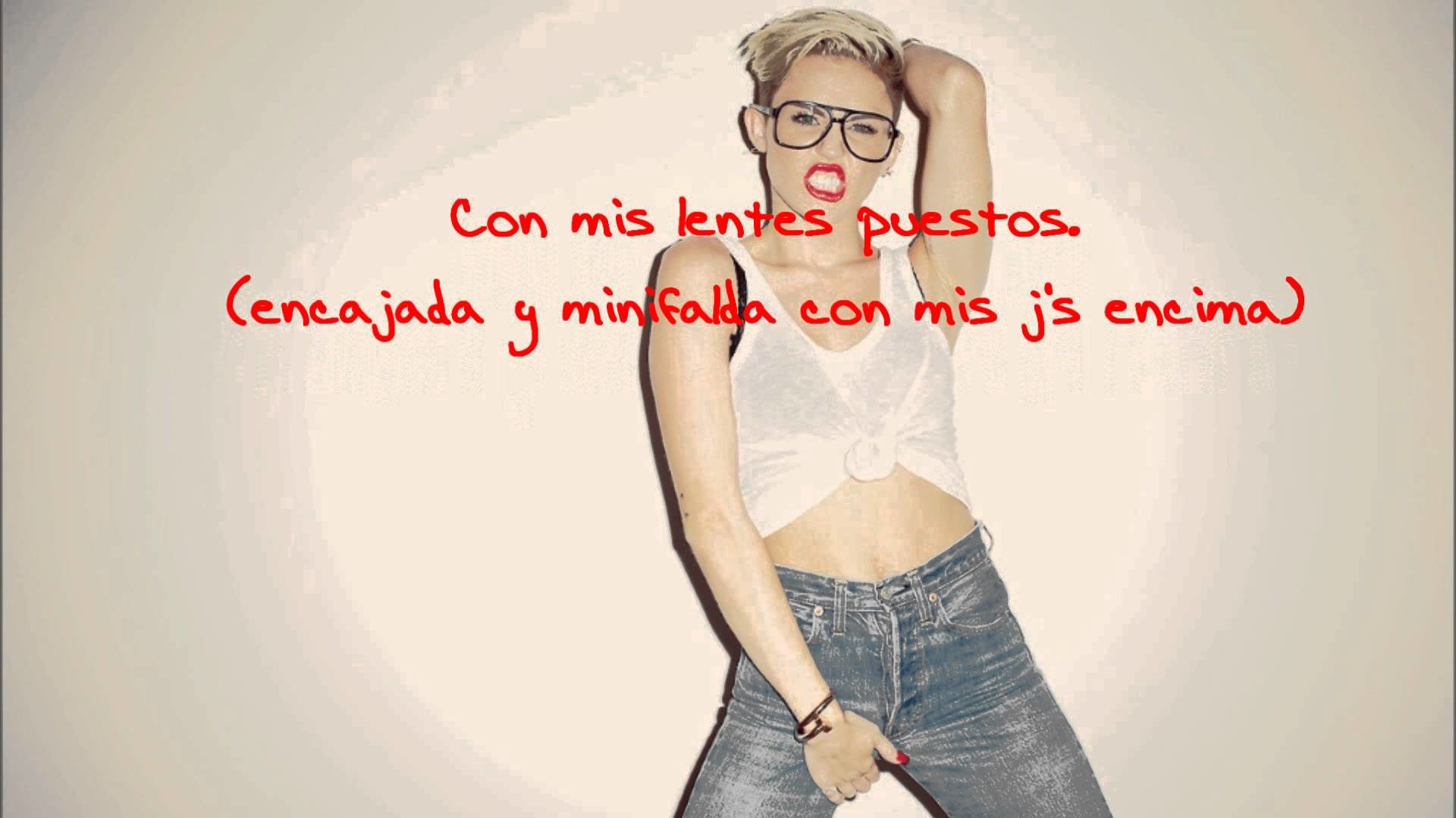 1920x1080 #23 Miley Cyrus ft. Wiz Khalifa , Juicy J and Mike WiLL Made It (Traducción  Al Español)