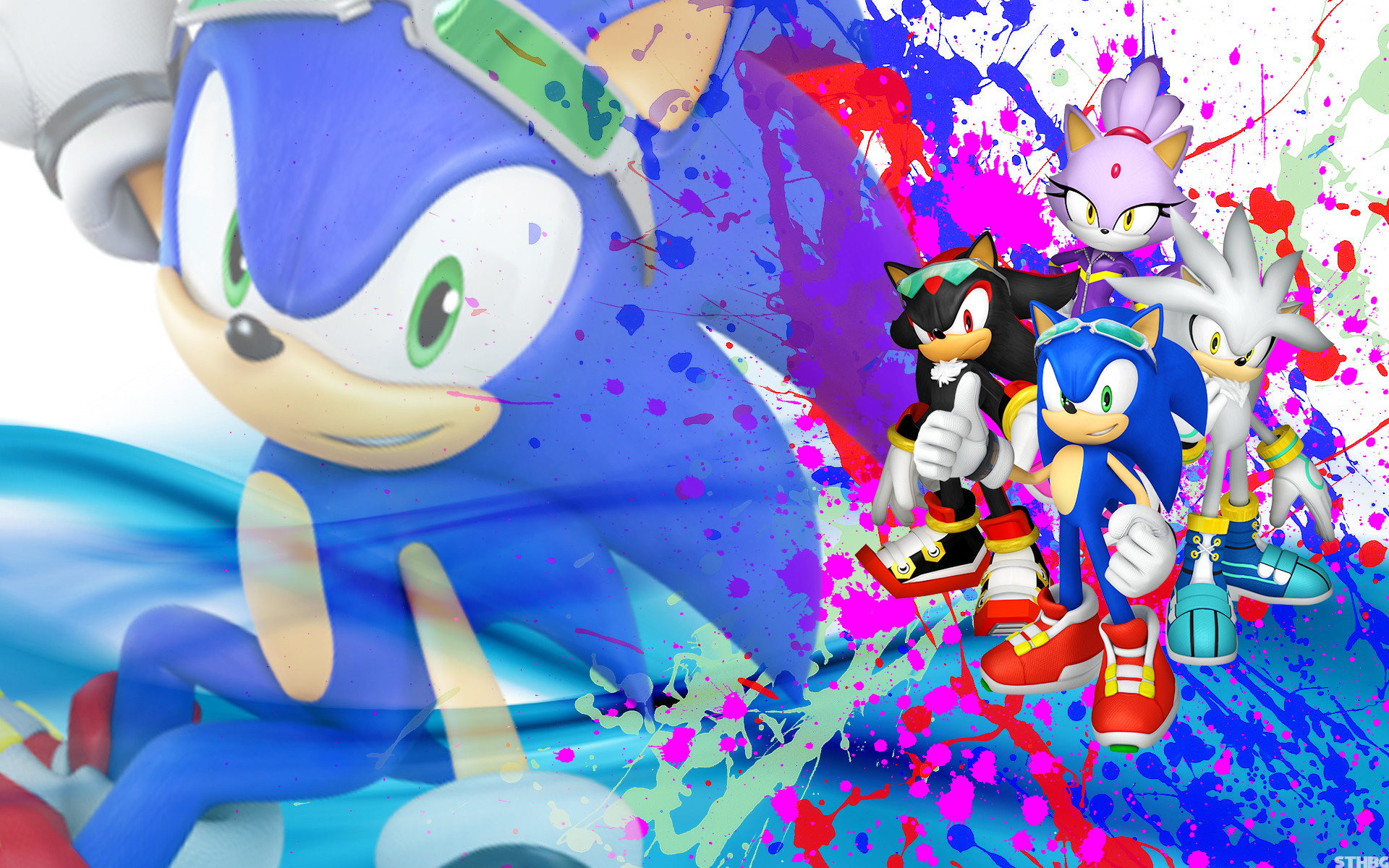 1920x1200 ... SonicTheHedgehogBG Sonic, Shadow, Silver And Blaze - Wallpaper by  SonicTheHedgehogBG