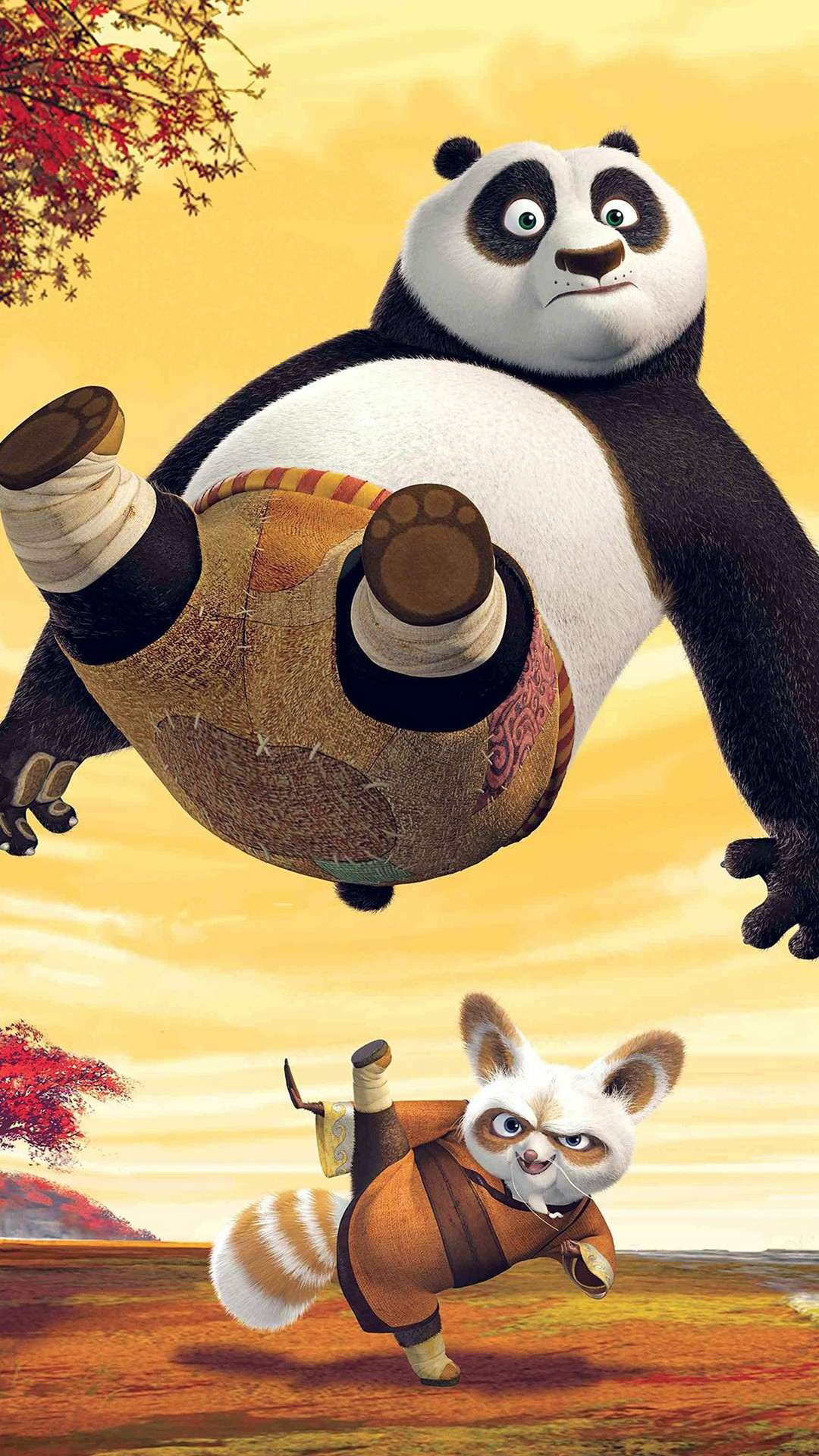 1080x1920 Kungfu Panda Dreamworks Art Kick Cute Anime #iPhone #6 #plus #wallpaper