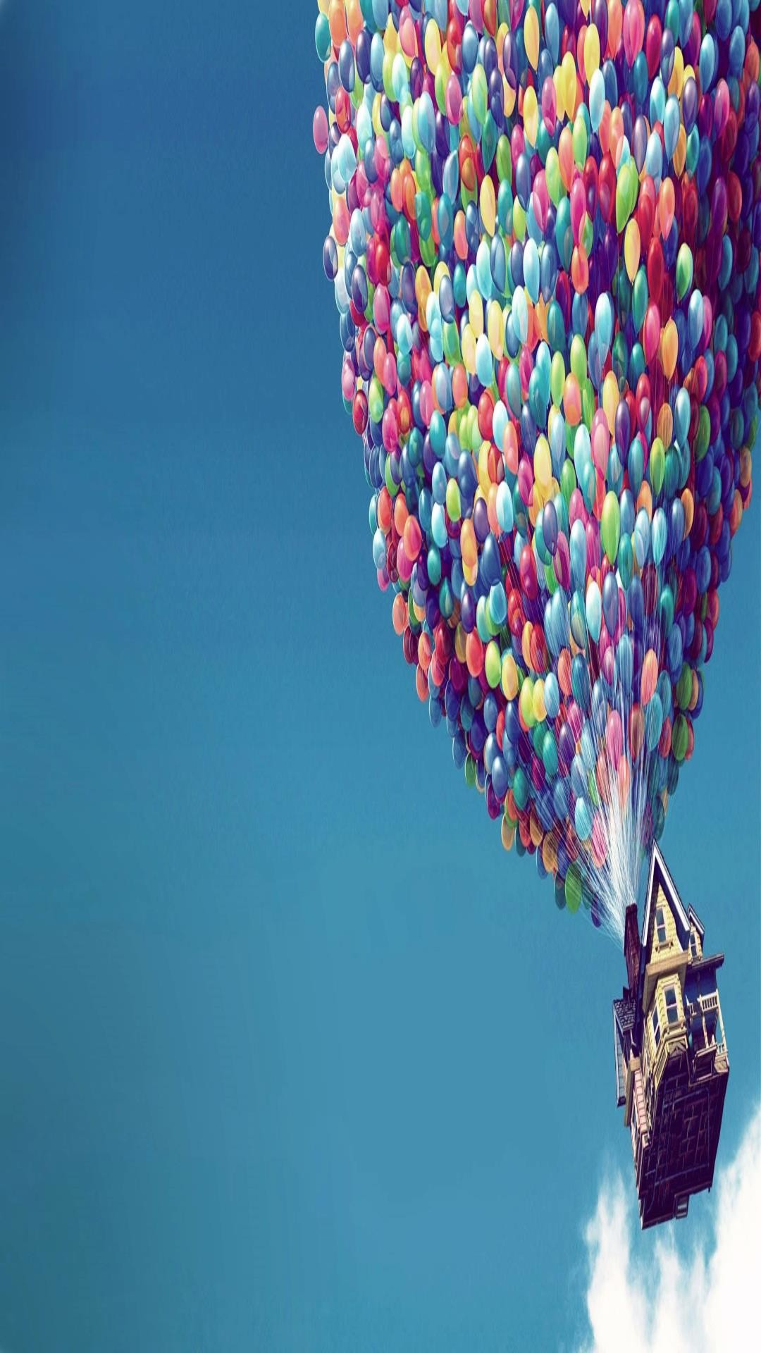 1080x1920 movie UP cartoon disney pixar full hd wallpaper balloons and the house in  the sky p