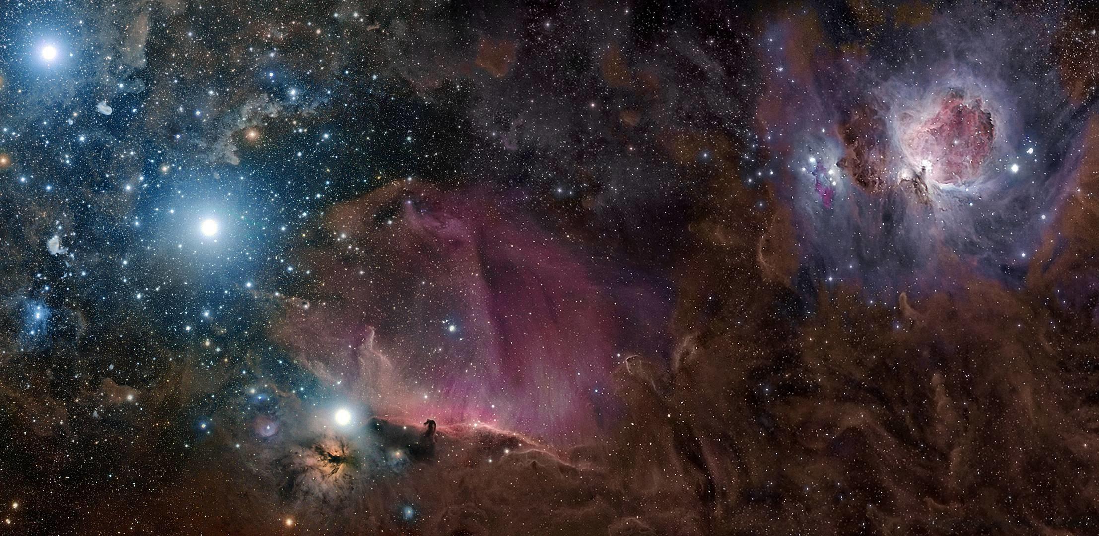 2214x1080 Download Wallpaper Orion Constellation Nebula Gas Free Desktop