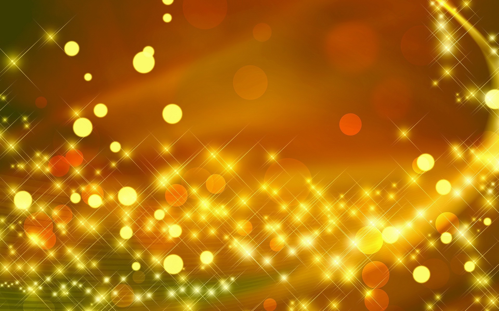 1920x1200 Sparkles Yellow Background Wallpaper