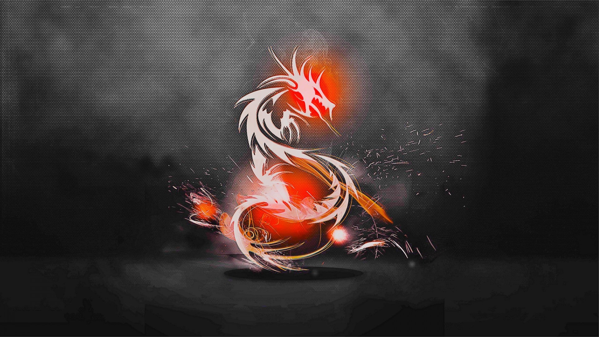 1920x1080 Preview wallpaper dragon, background, light, shadow