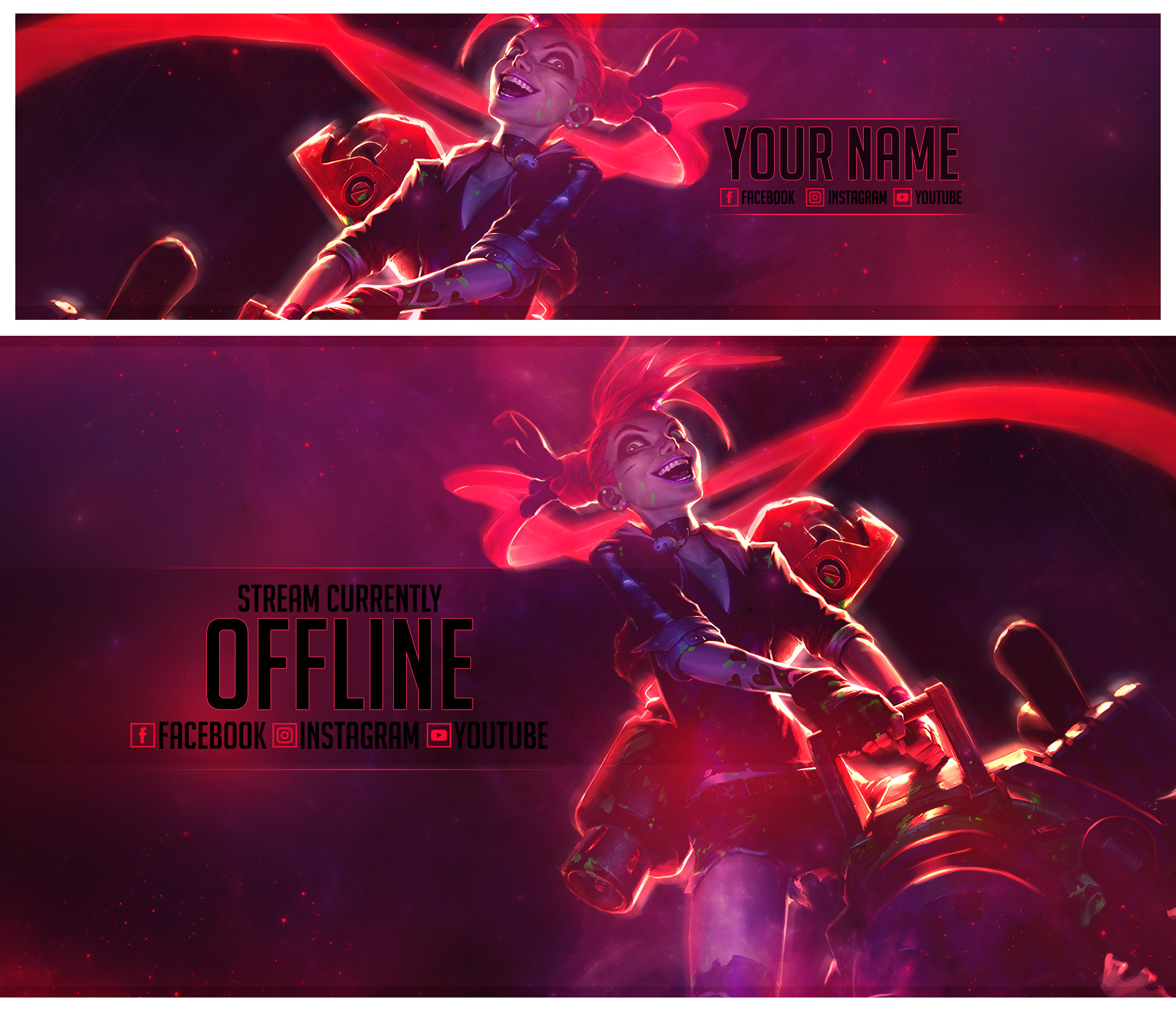 1920x1650 ... Slayer Jinx - Banner and Offline Screen by Psychomilla