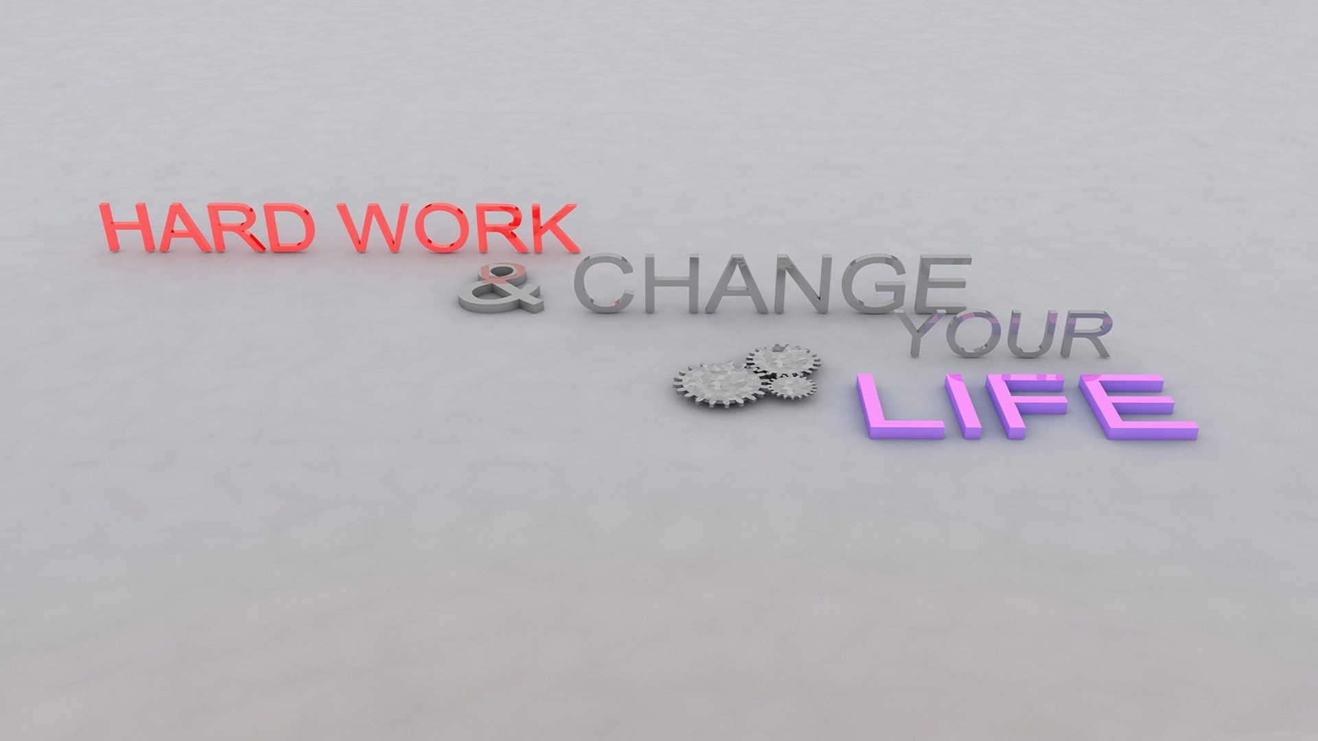 1920x1080 Hard work makes man powerful Change the life Key Success