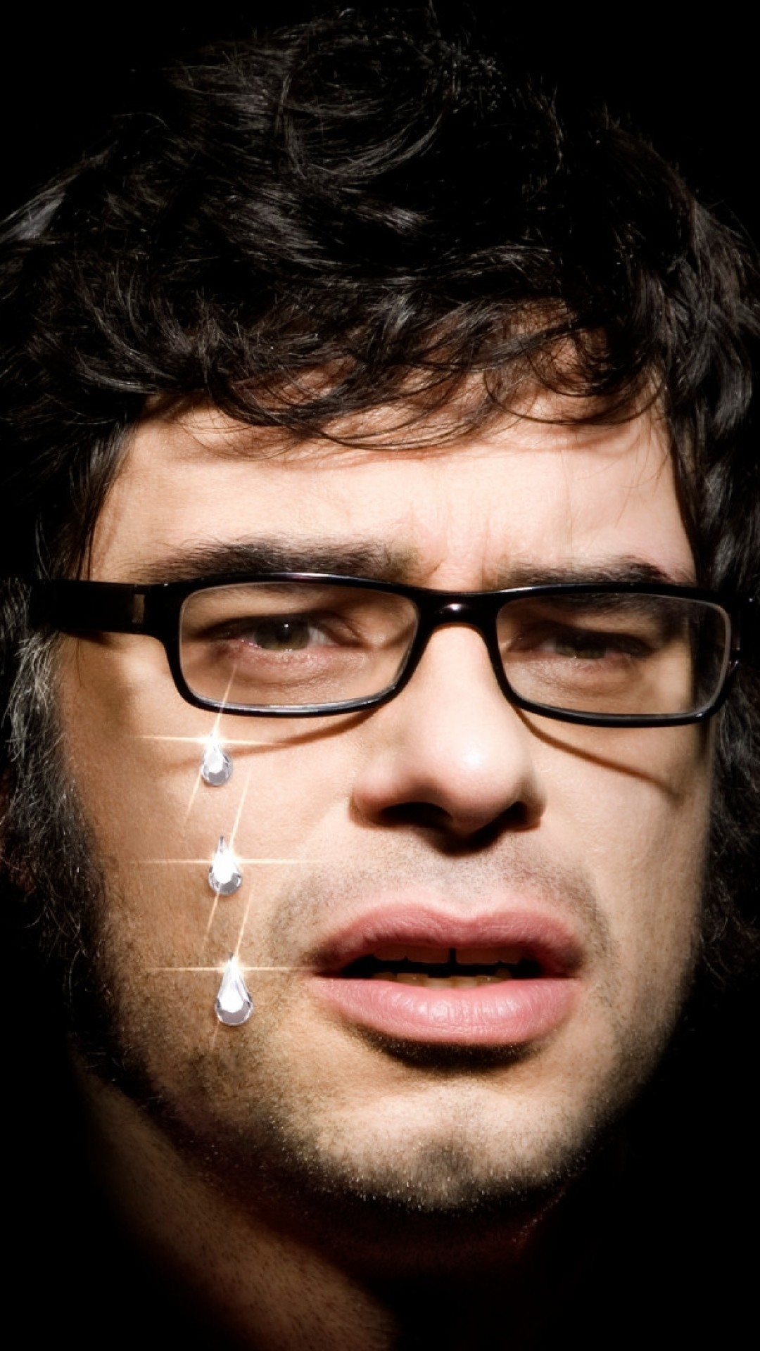1080x1920   Wallpaper flight of the conchords, faces, graphics,  glasses, bristle