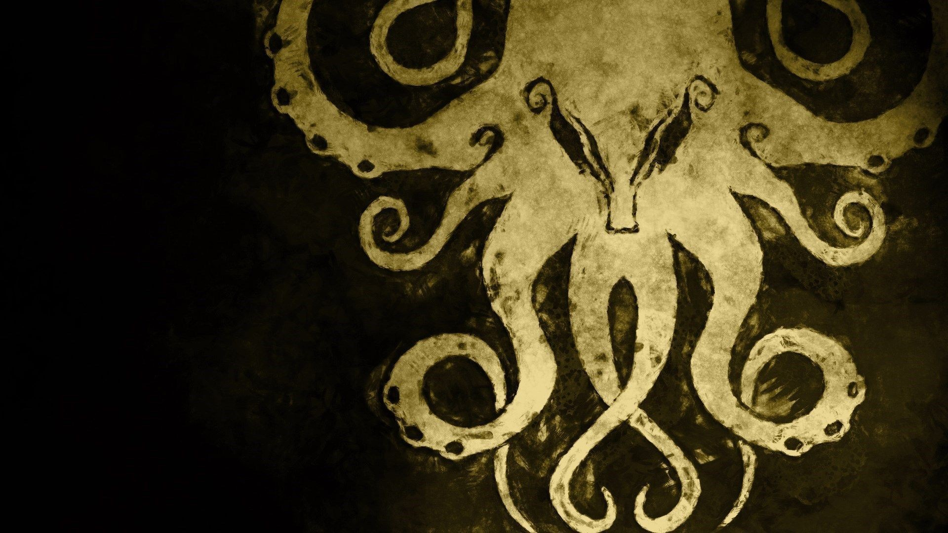 1920x1080 cthulhu-drawing-art-hd-wallpaper - Magic4Walls.com