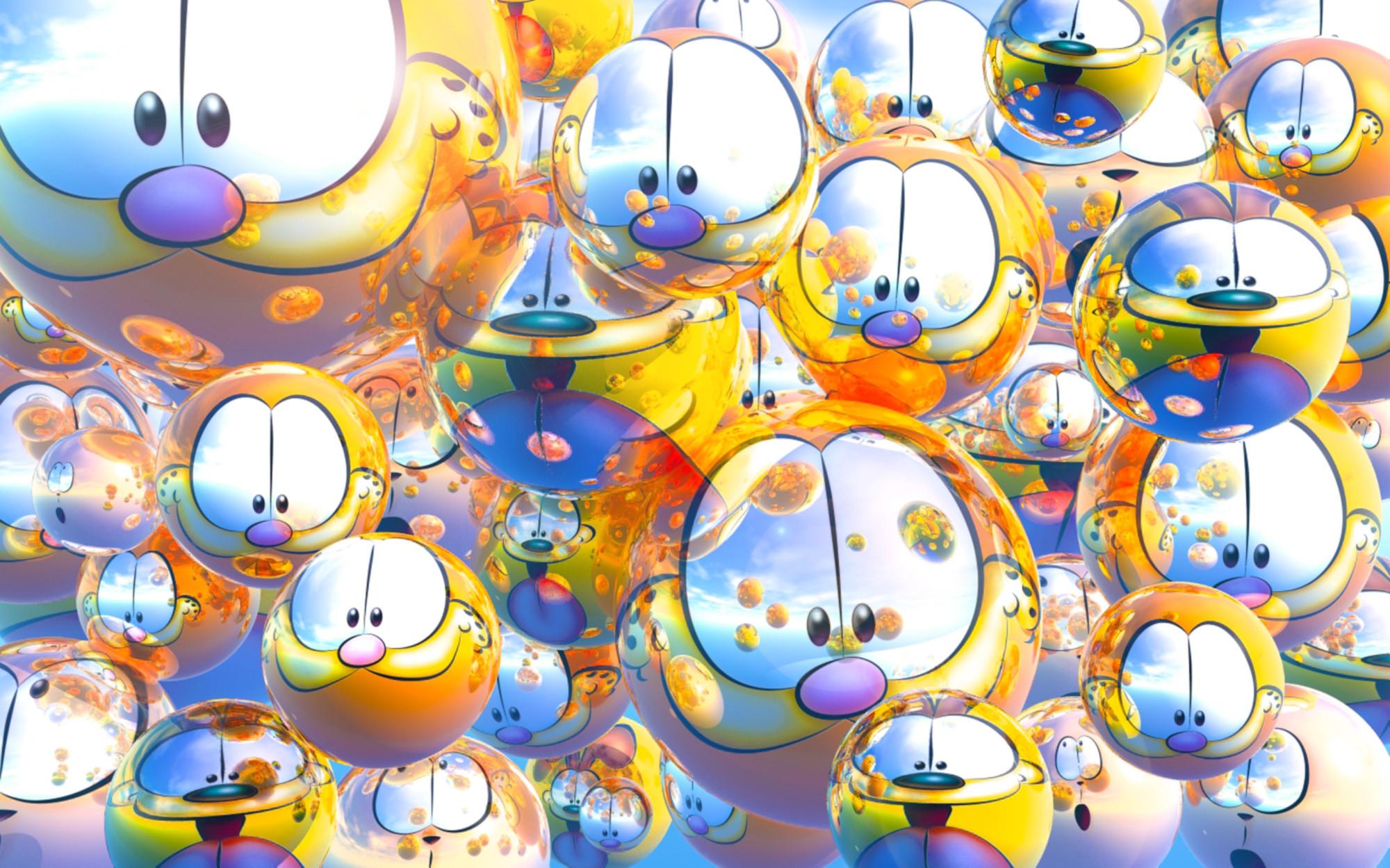 2000x1250 Garfield Friends High Definition Wallpaper For Desktop Background