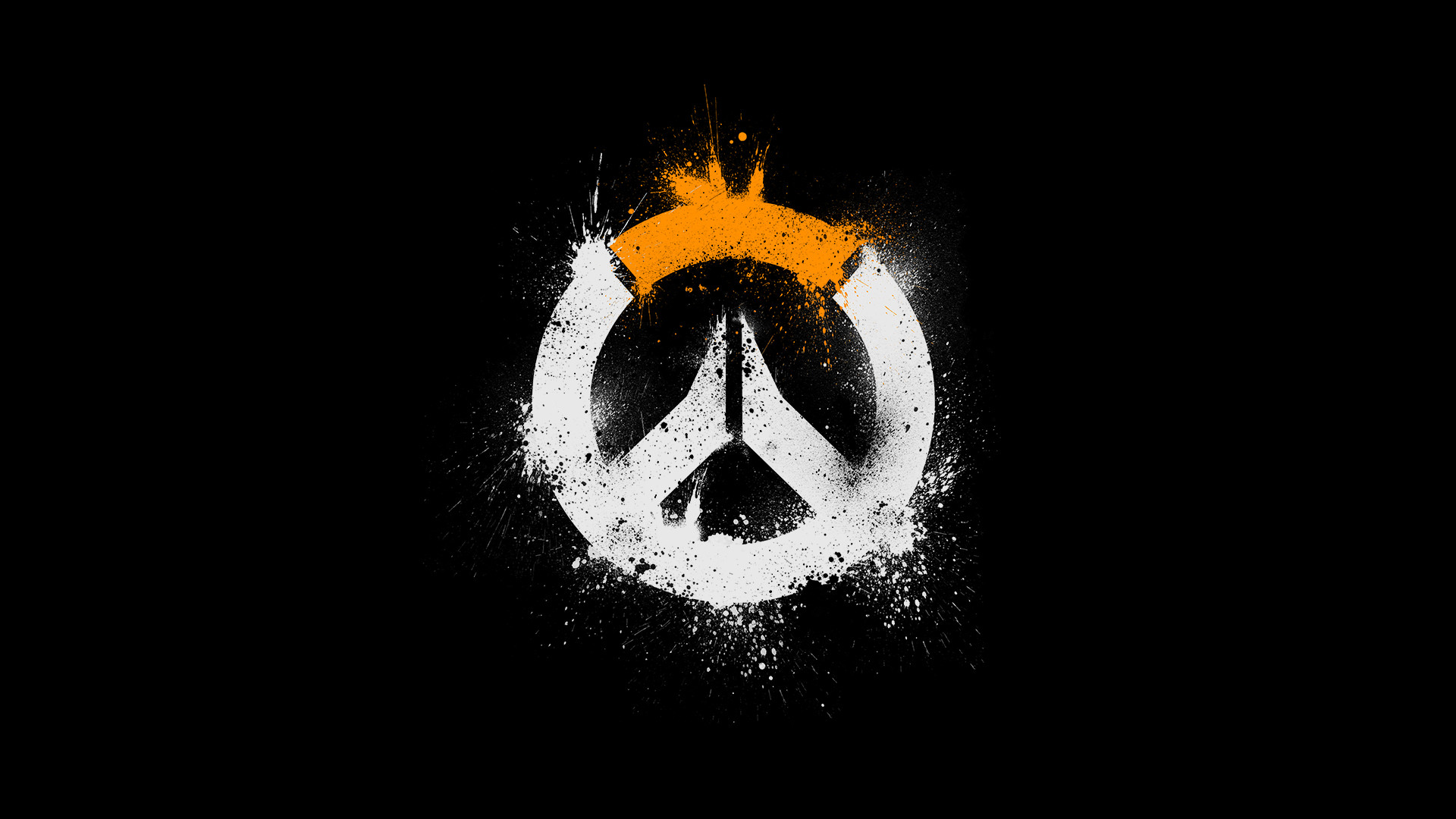 1920x1080 Overwatch Logo HD (1024x768 Resolution)