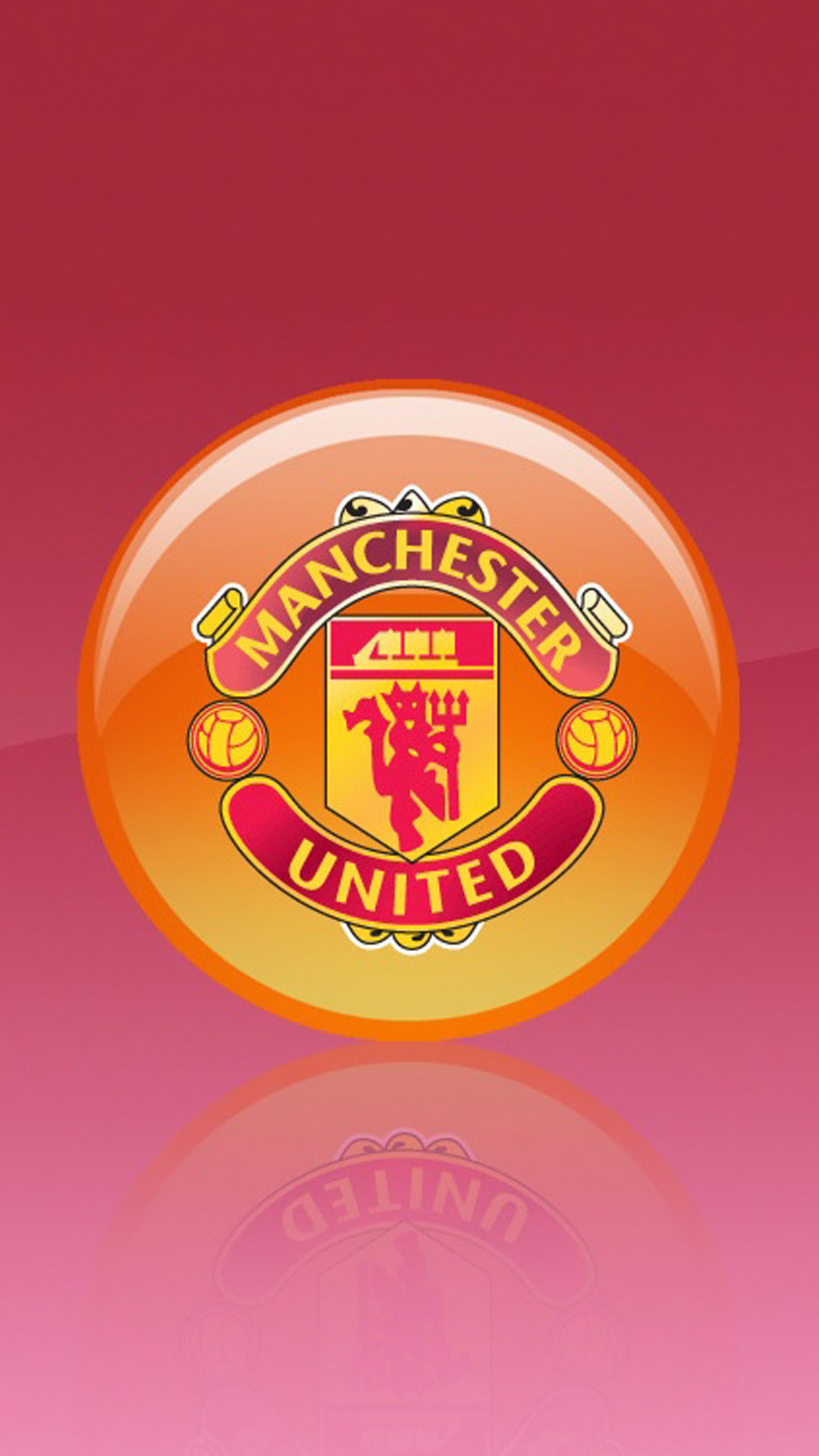 1080x1920 Apple iPhone 6 Plus HD Wallpaper - Manchester United Logo in 3D  #appleiphone6plus #appleiphone6wallpaper