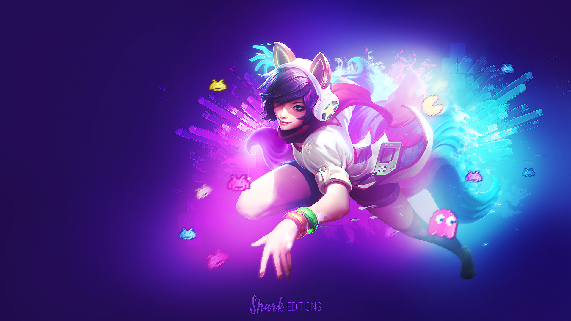 1920x1080 Arcade Ahri wallpaper by LeftLucy Arcade Ahri wallpaper by LeftLucy