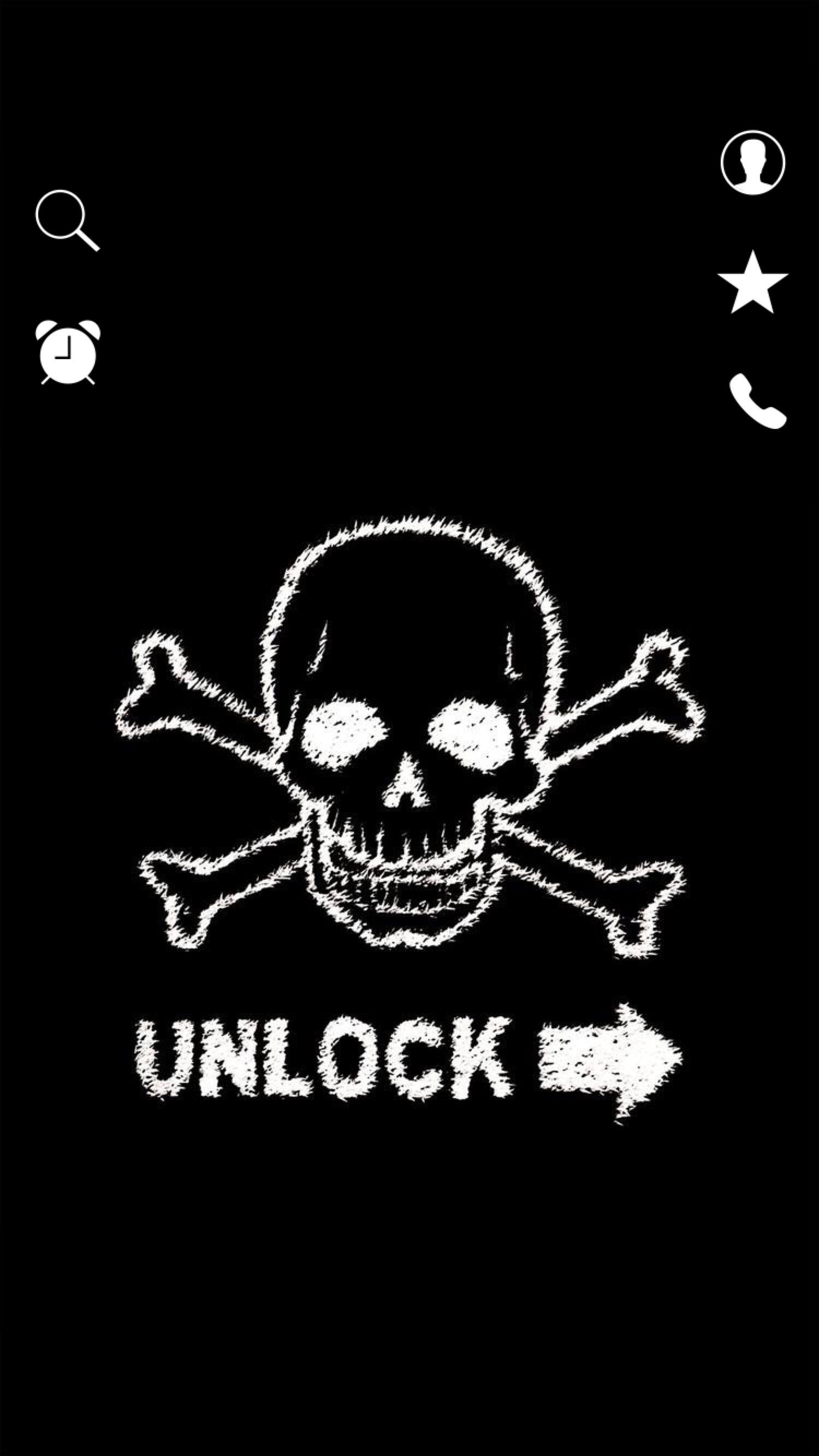 1500x2668 ↑↑TAP AND GET THE FREE APP! Lockscreens Art Creative Skull Crossbones  Unlock Black. Lock Screen WallpaperIphone 6SkullLocksScreensBlack
