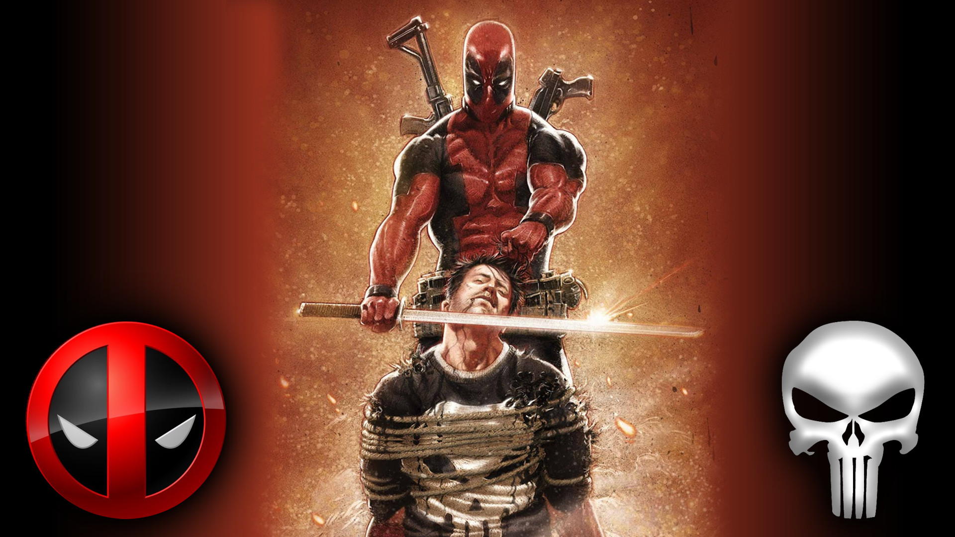 1920x1080 Deadpool Punisher wallpaper by Badonk Deadpool Punisher wallpaper by Badonk