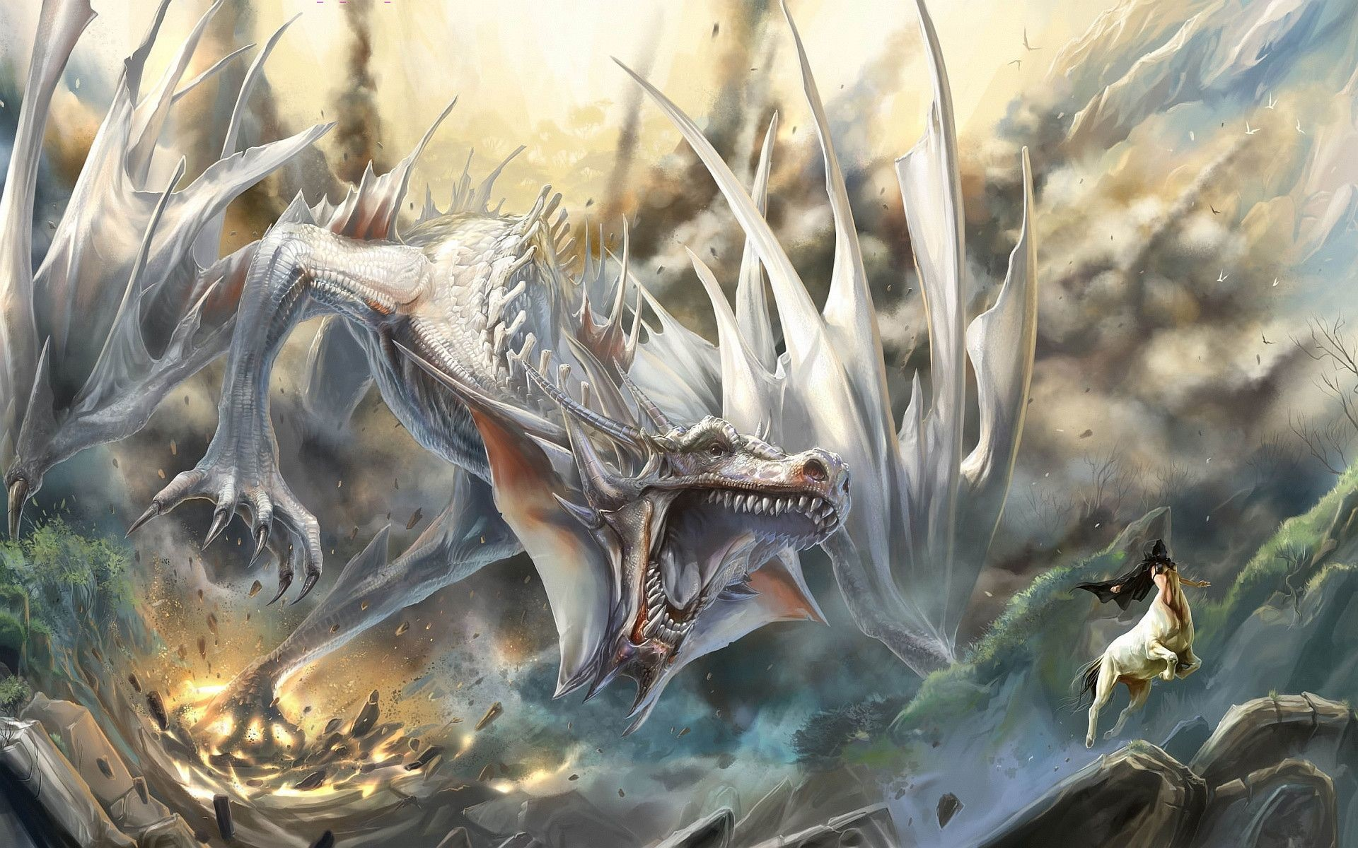 Blue eyes white dragon wallpaper 62 images - Dragon backgrounds 1920x1080 ...