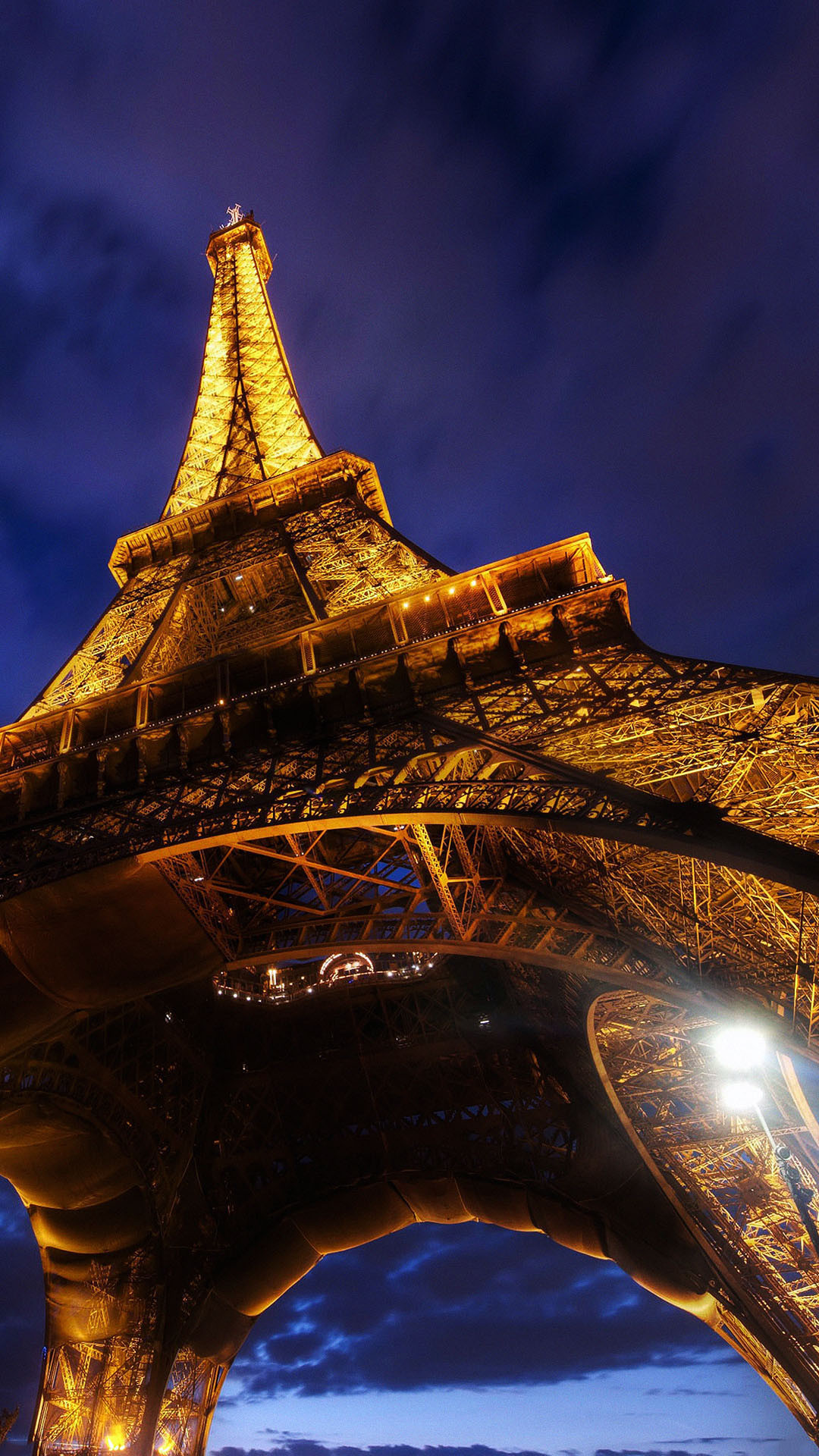 1080x1920 Eiffel Tower Paris Base View At Night Android Wallpaper ...