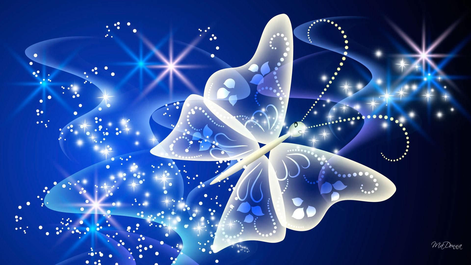 1920x1080 Butterfly Magical Radiance Background Download Button