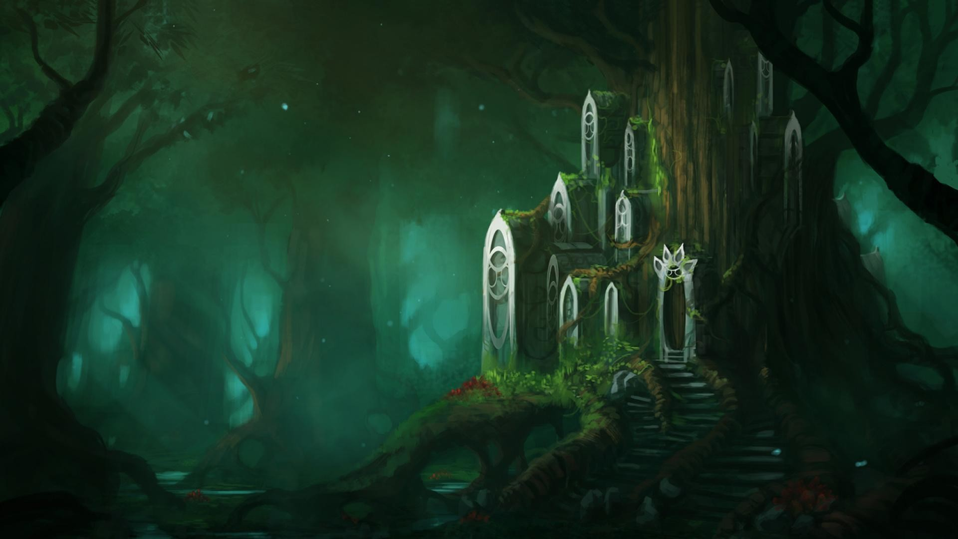 1920x1080 Fantasy Forest Wallpaper Download 13126 Full HD Wallpaper Desktop .