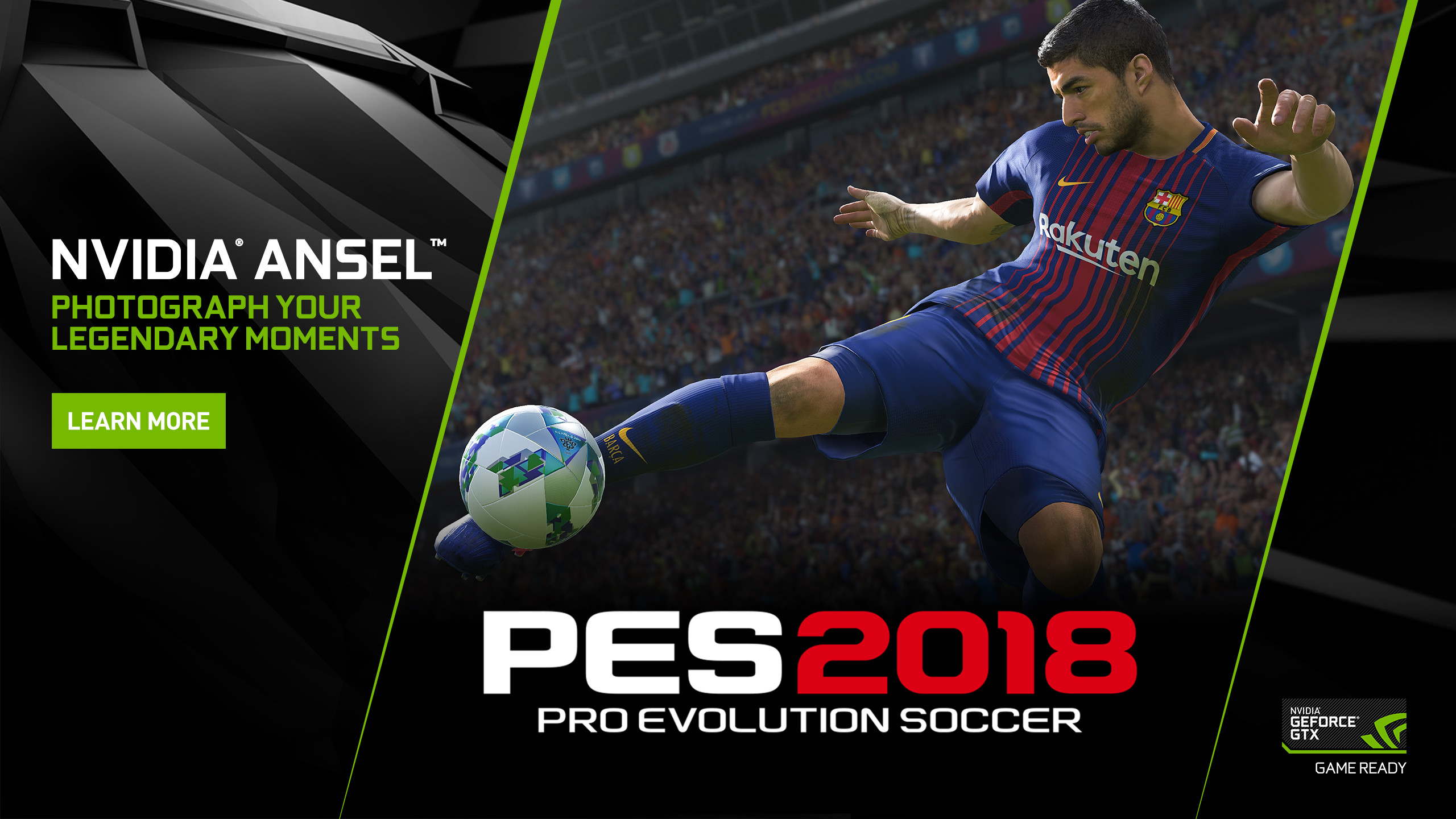 2560x1440 Pro Evolution Soccer 2018 on PC: Capture The Beautiful Game From Any Angle  With NVIDIA