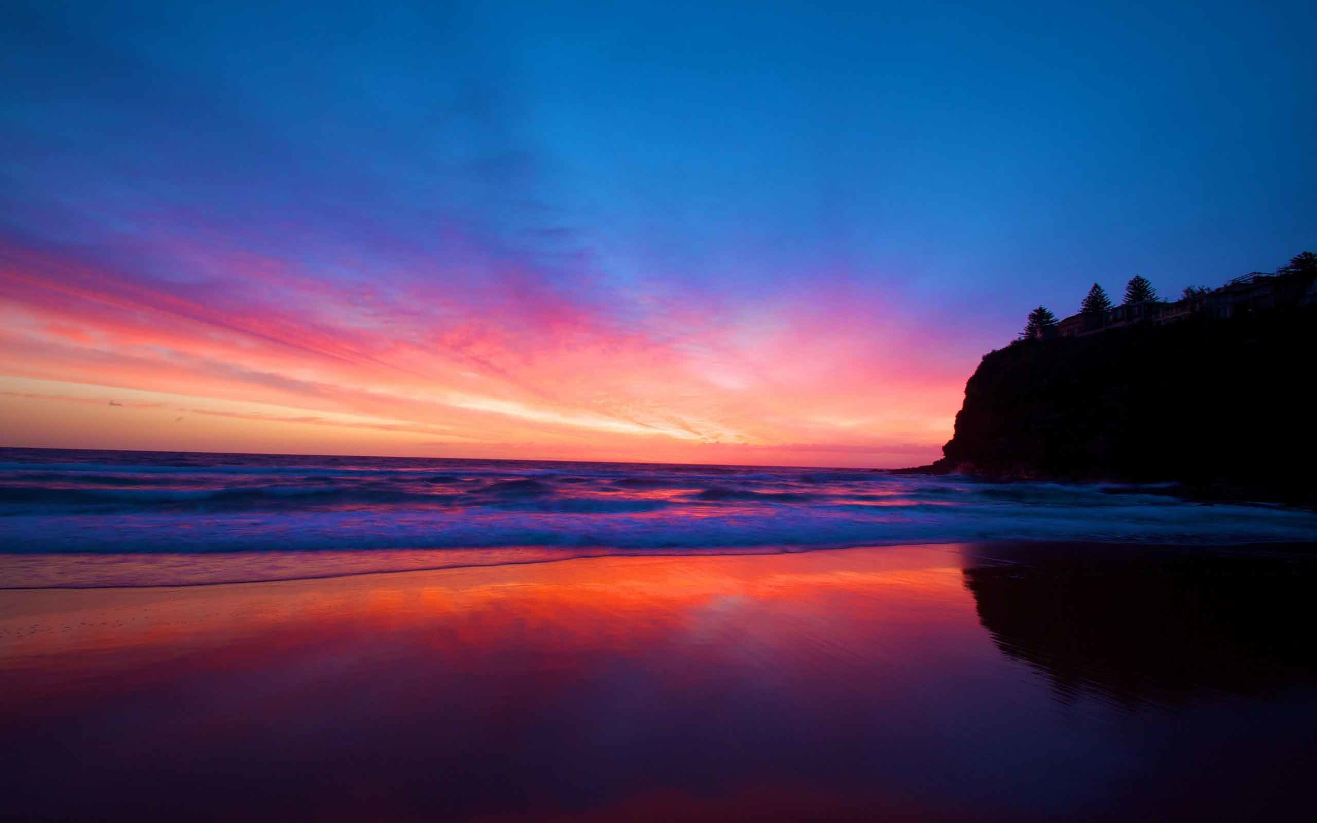 2560x1600 Sunrise Sunset Seas Dark Beach Landscapes Nature Desktop Backgrounds  Download