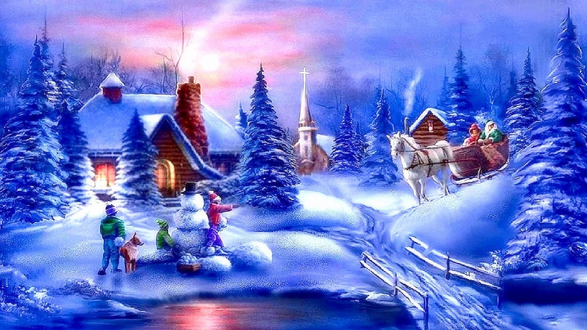 Christmas scene backgrounds 40 images 1920x1200 free desktop christmas wallpaper desktop christmas wallpaper free for background download voltagebd Images