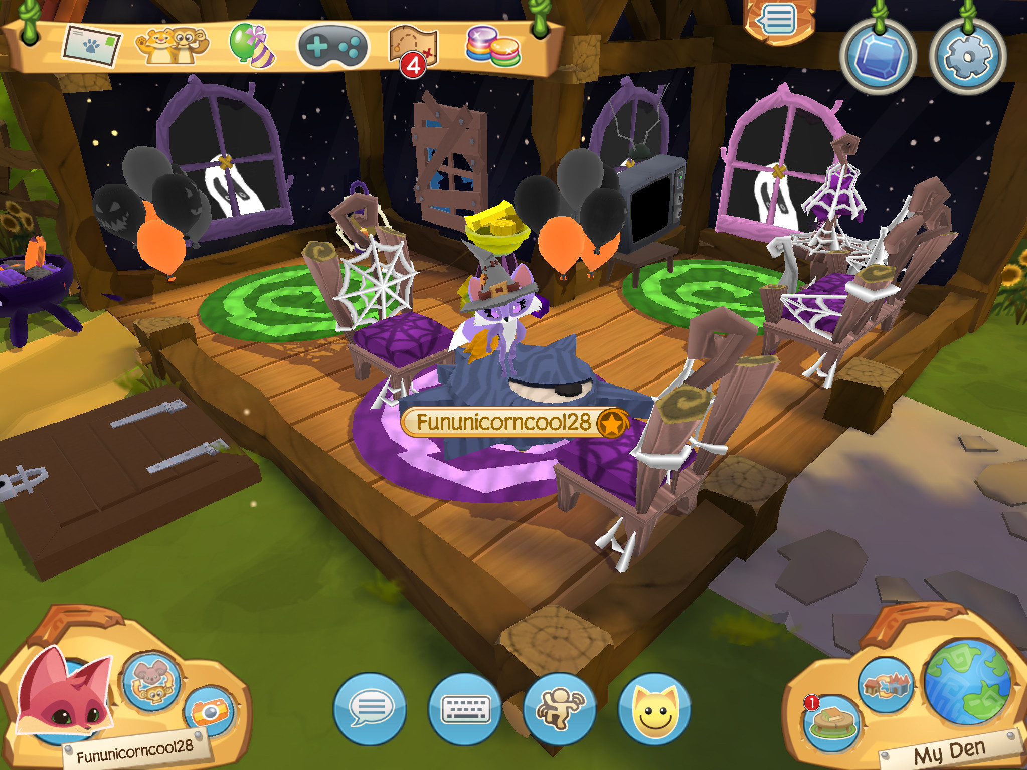 2048x1536 Come stop by my SPOOKY den in Animal Jam- Play Wild!