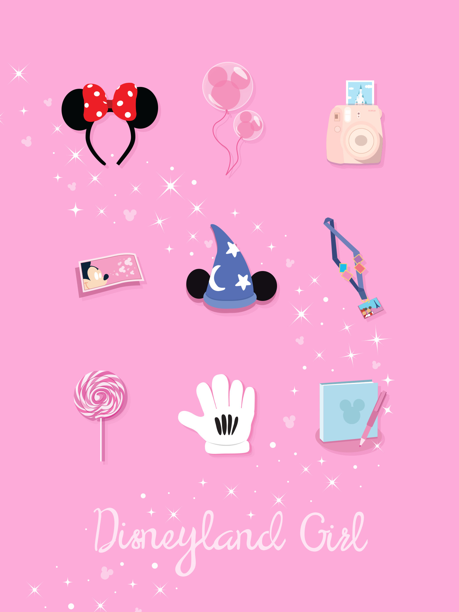 "1536x2048 ""Disney Girl"" : Disneyland Smartphone - iPad Wallpaper."