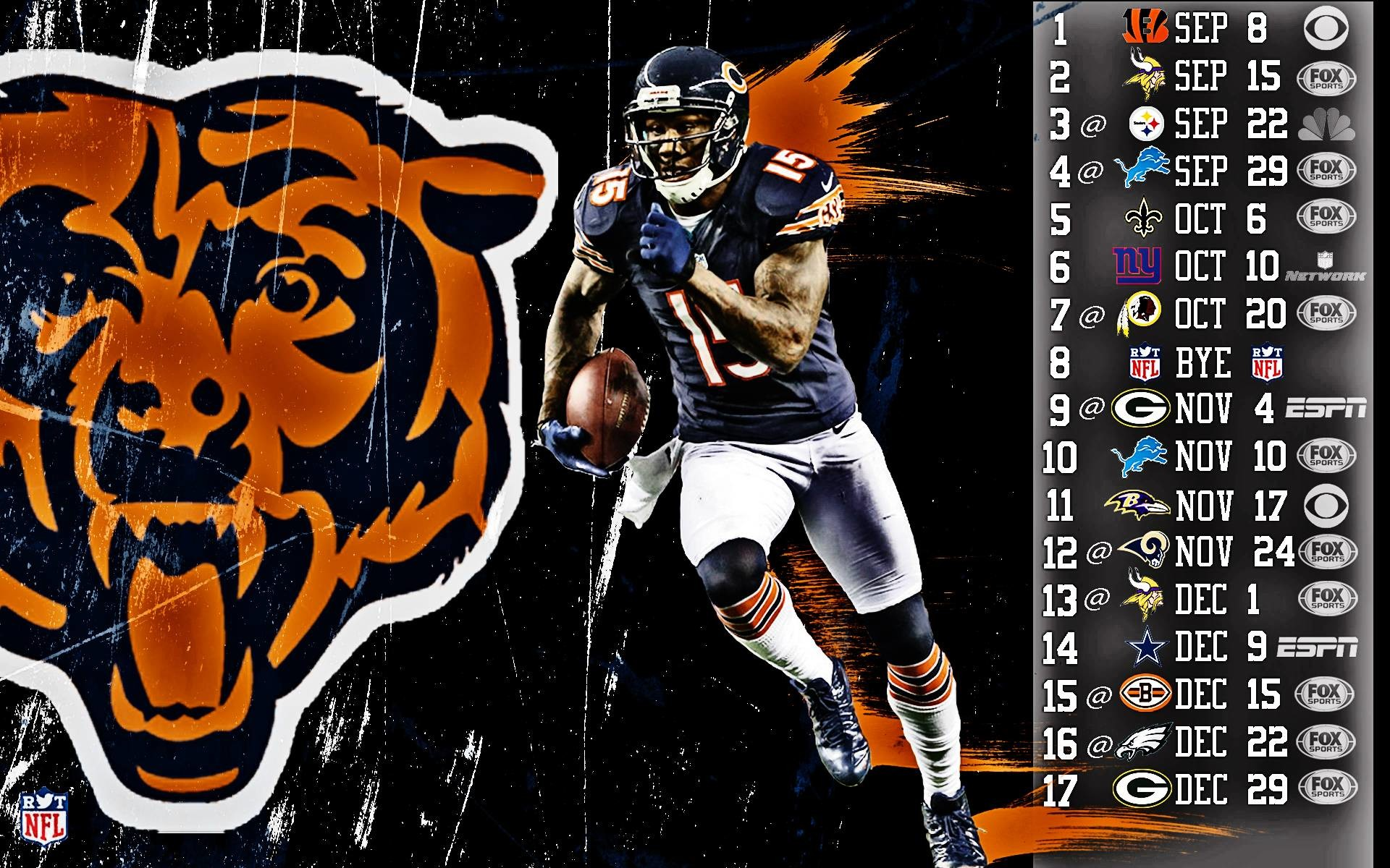 1920x1200 Chicago Bears 2018 Wallpapers