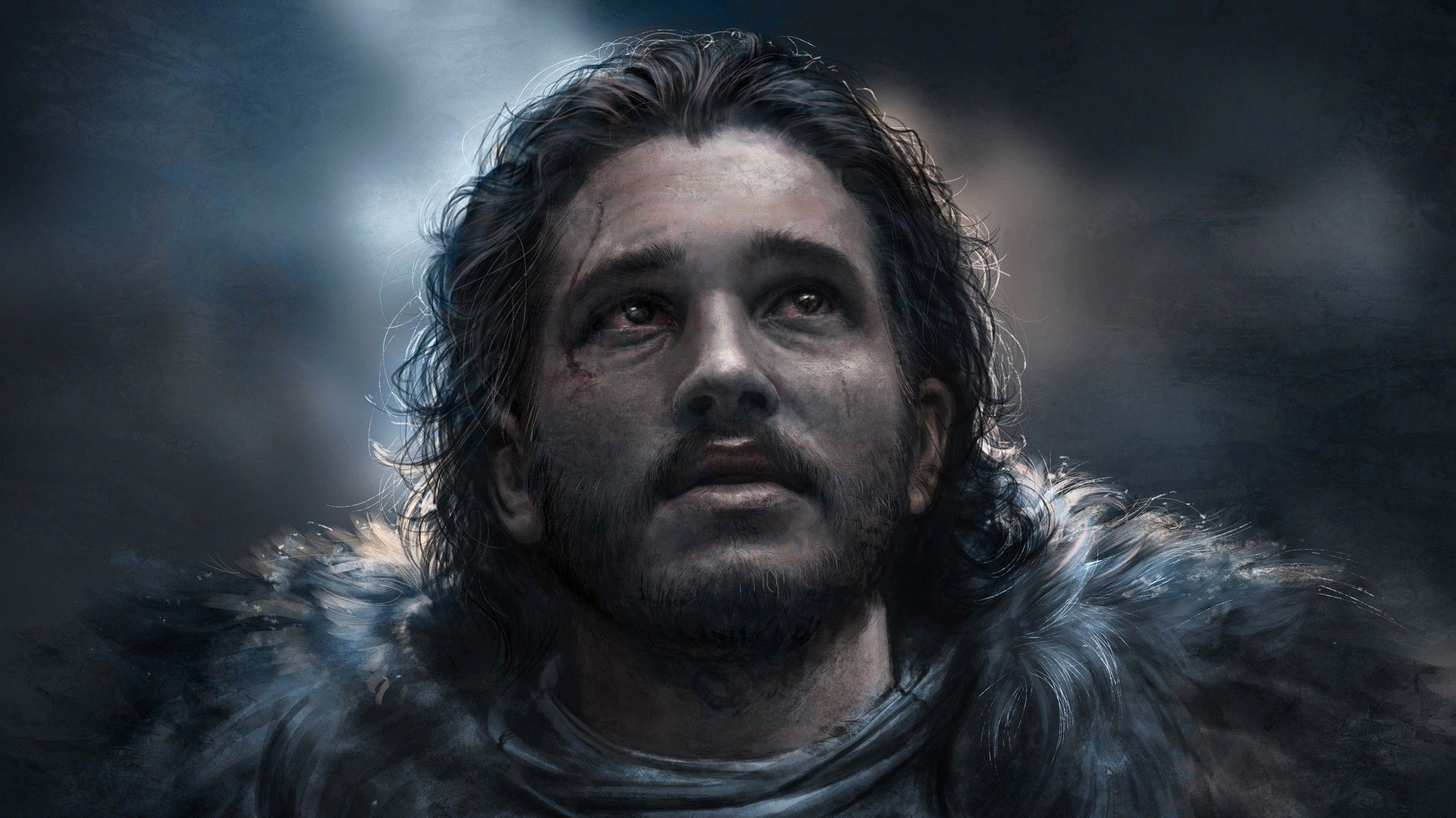 2560x1440 Download  Jon Snow, Painting, Game Of Thrones Wallpapers .