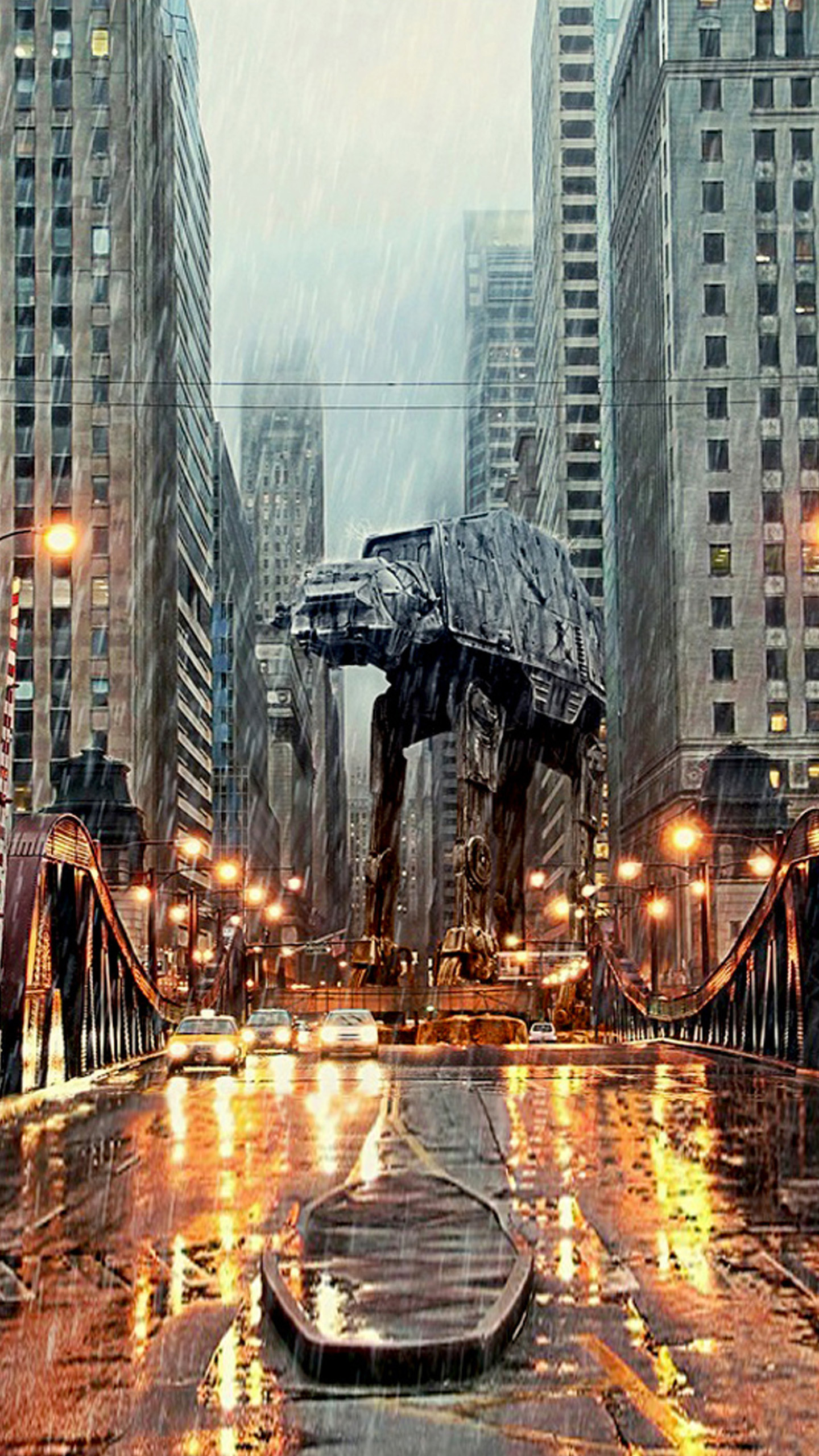 1440x2560 AT-AT in Chicago LG G3 Wallpapers