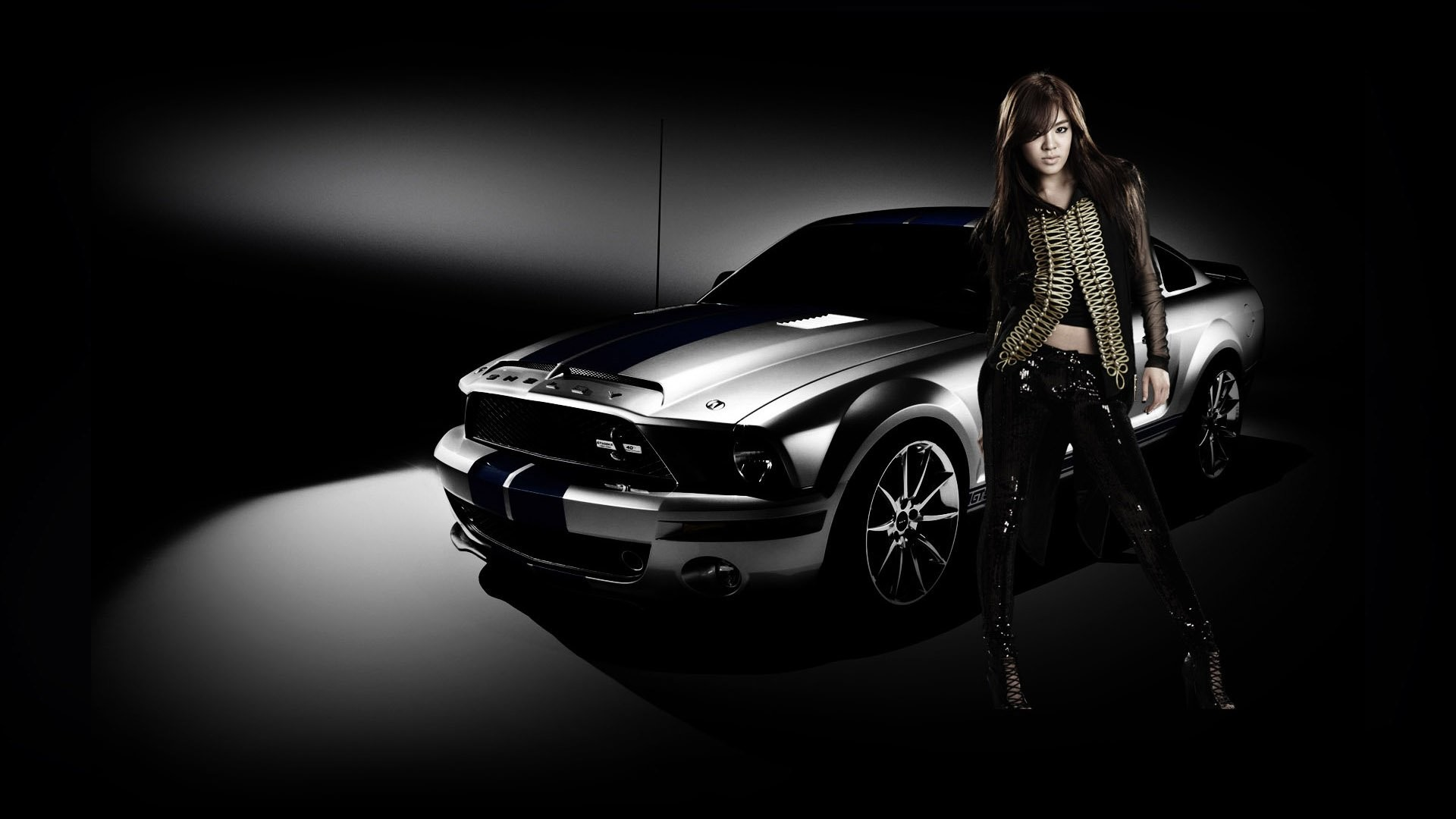 1920x1080 Asian Girl Ford Mustang ...