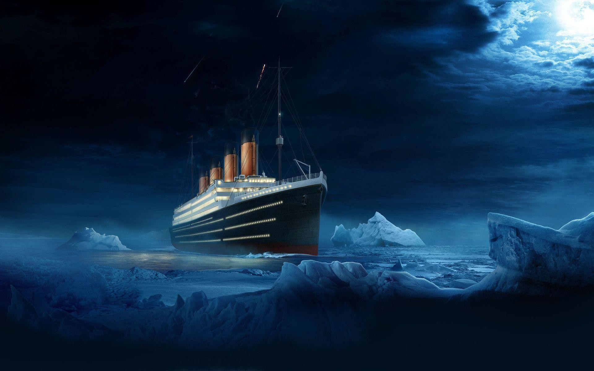 1920x1200 Ship titanic ship titanic water night wallpaper |  .