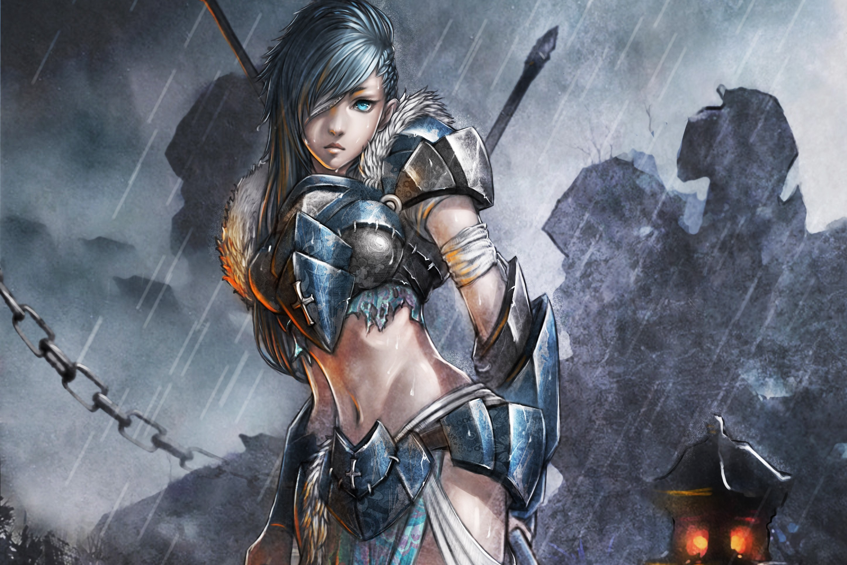 2894x1931 Fantasy - Women Warrior Wallpaper