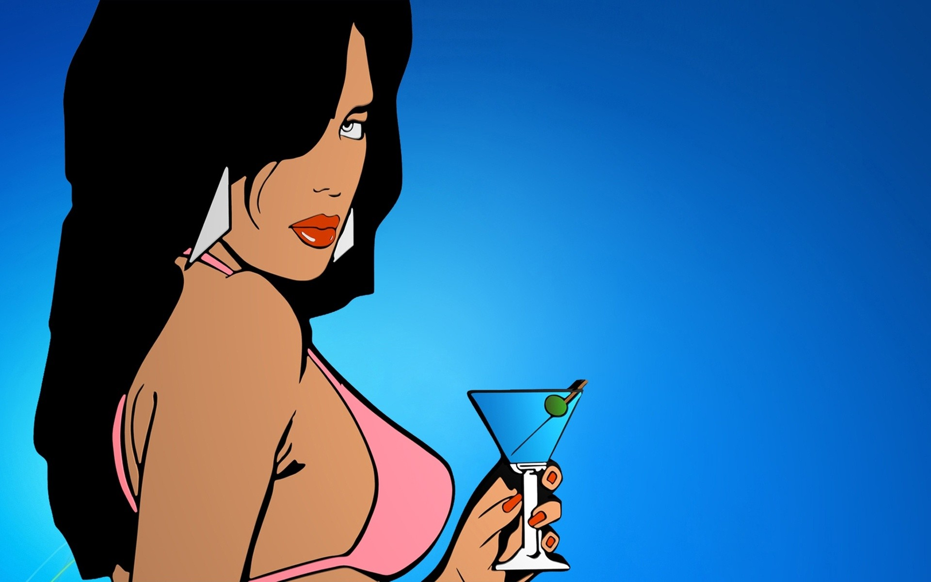 1920x1200 Grand Theft Auto Vice City Girl