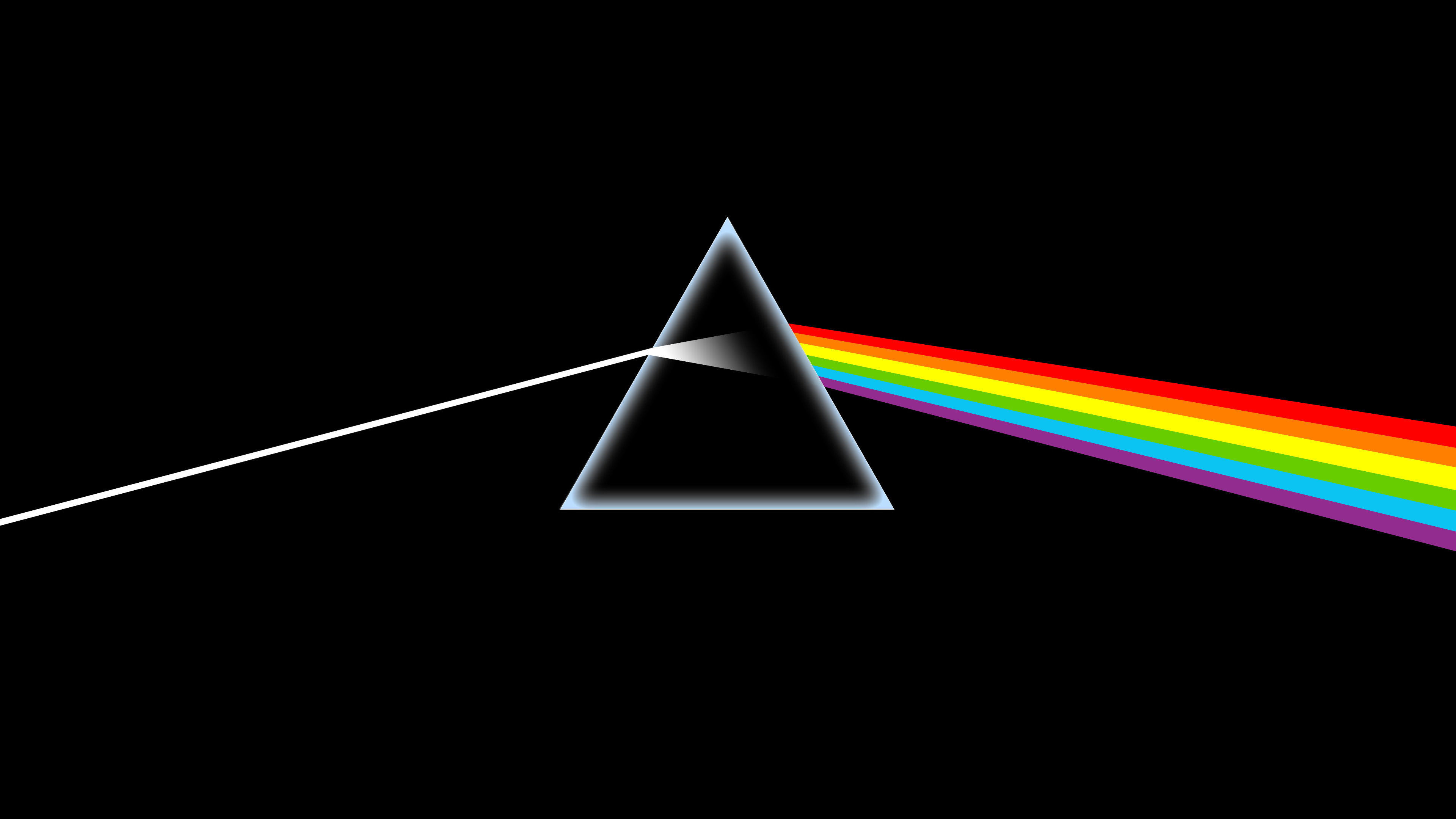 3840x2160 The Dark Side Of The Moon album cover; upscaled to 4k [OC]