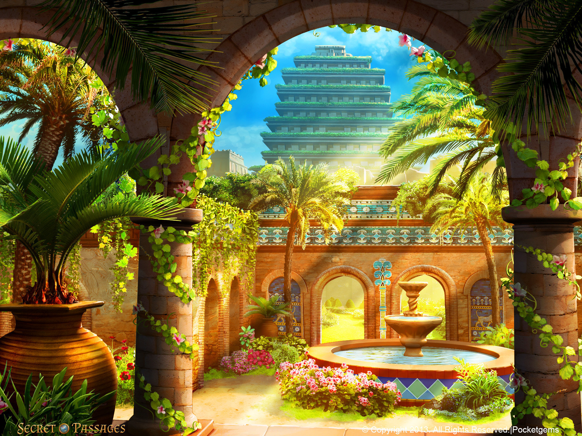 Hanging gardens of babylon wallpaper 47 images for When was the hanging gardens of babylon destroyed