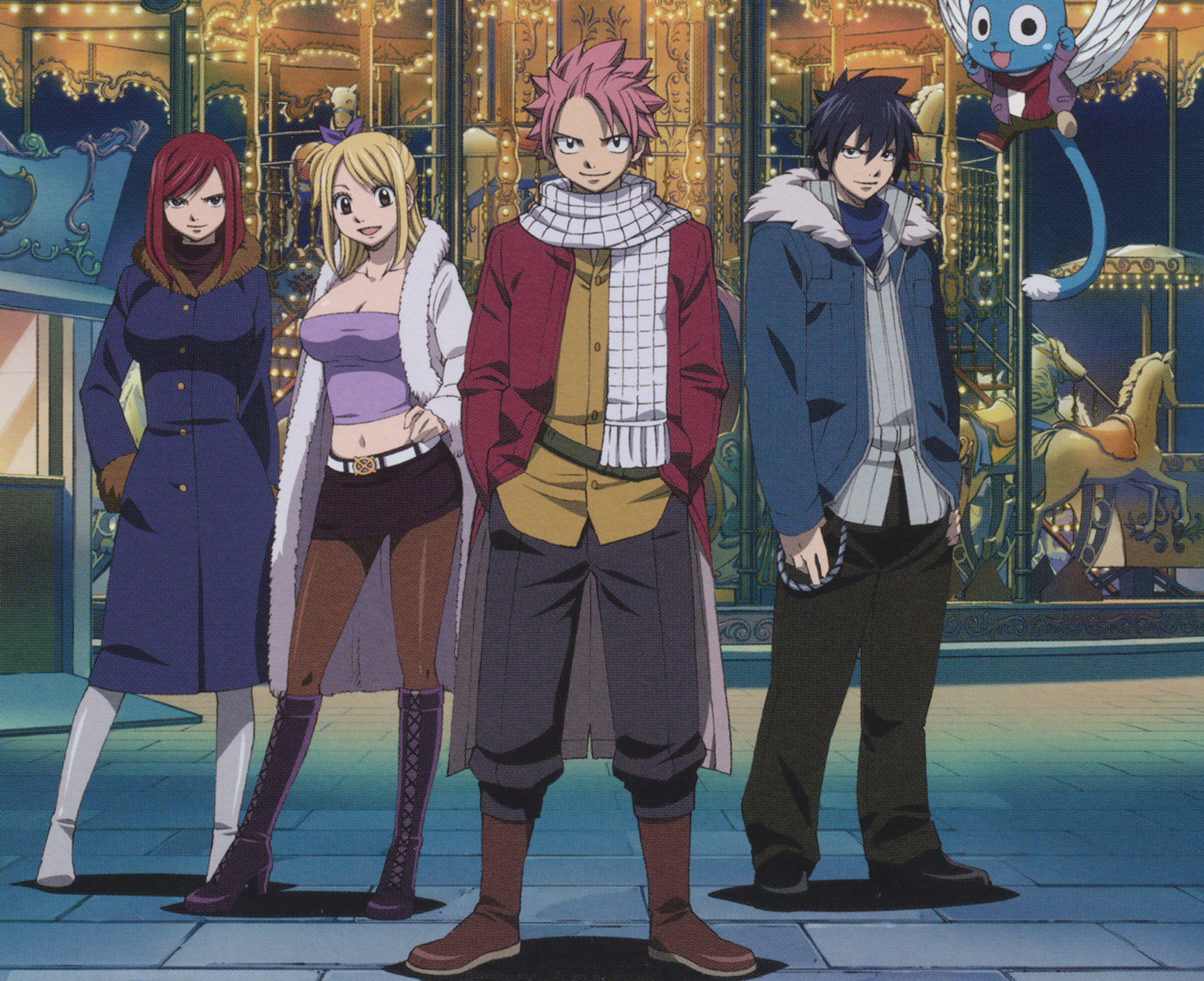 1920x1565 Anime Fairy Tail Lucy Heartfilia Natsu Dragneel Erza Scarlet Gray Fullbuster  Happy (Fairy Tail) Wallpaper