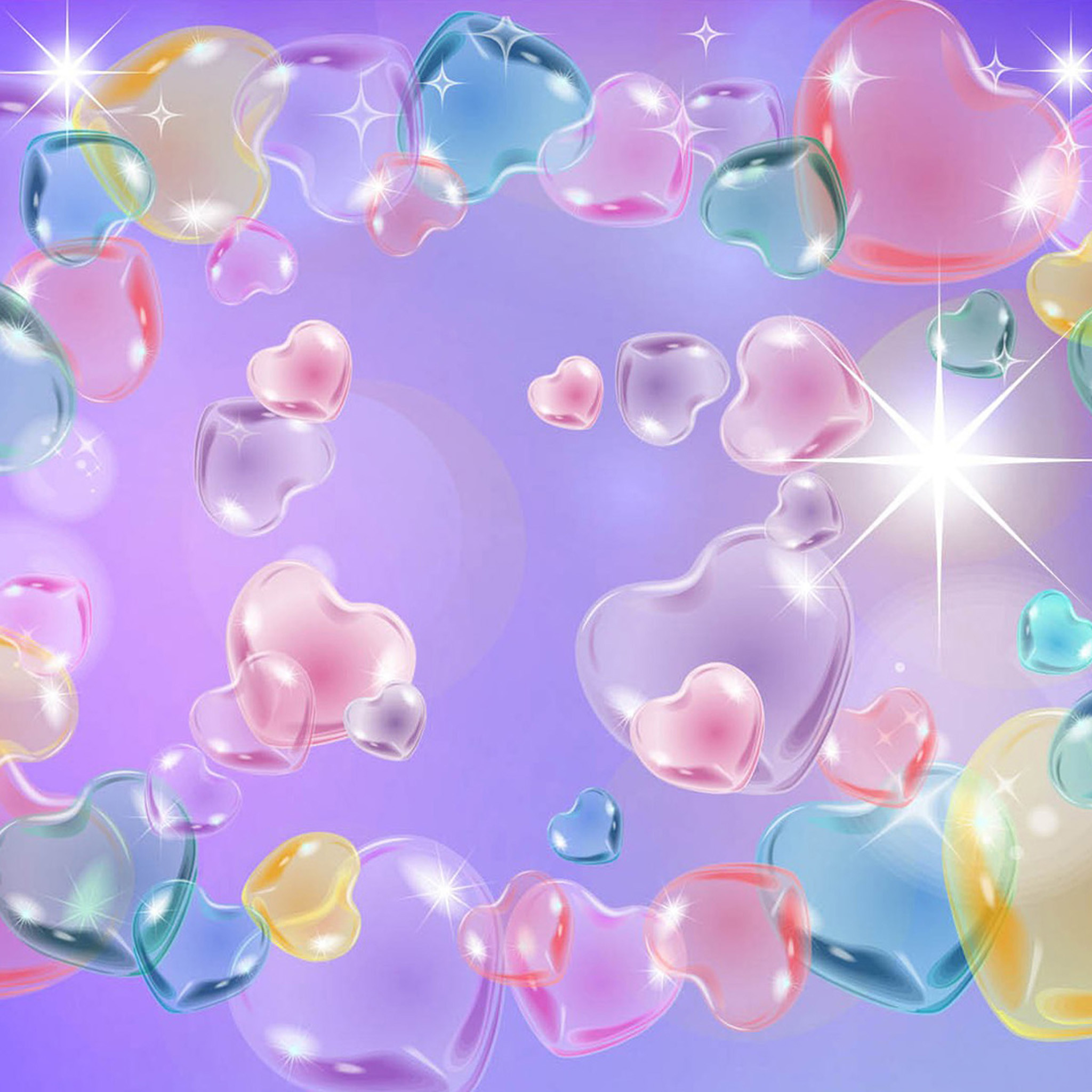 Colorful water bubbles wallpaper