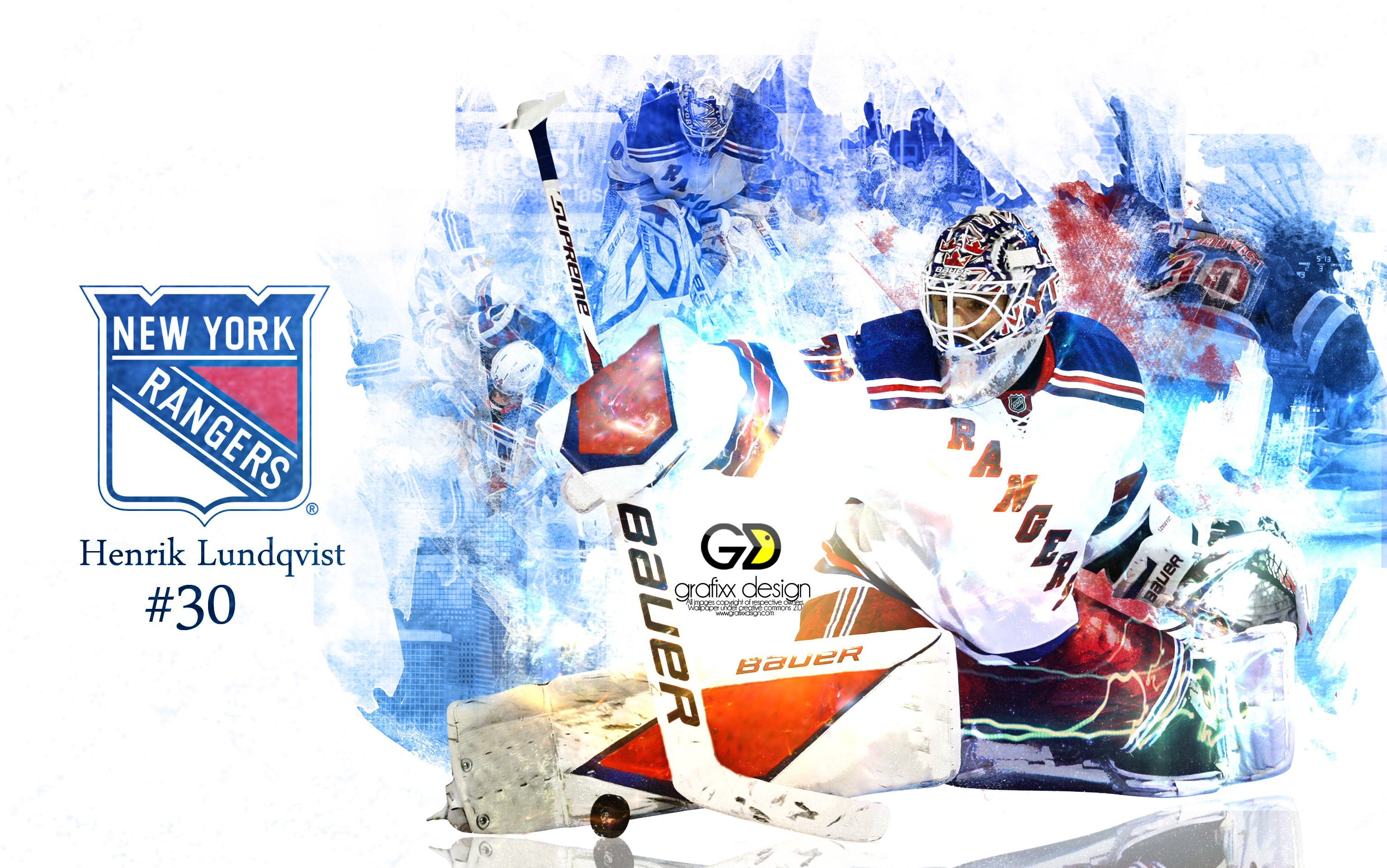 3000x1879 New York Rangers Henrik Lundqvist Wallpaper