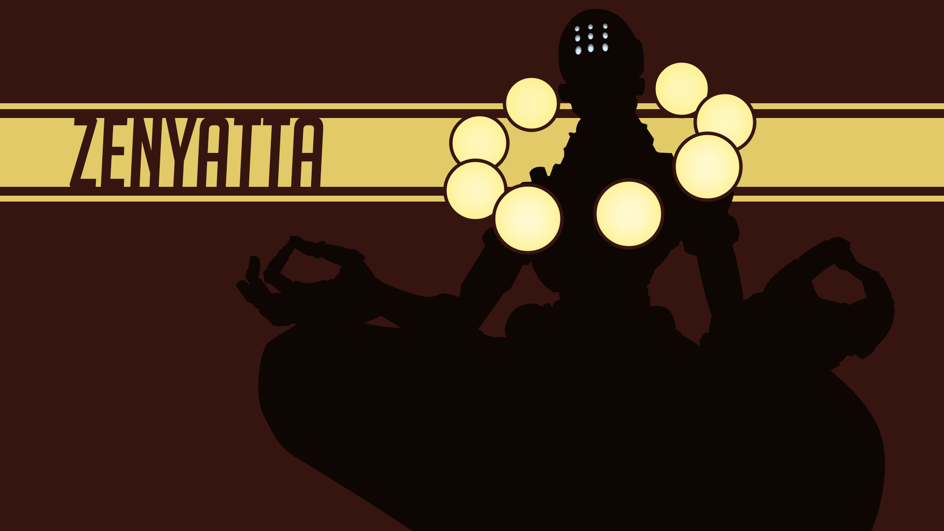 1920x1080 Simple Zenyatta Wallpaper (Overwatch)
