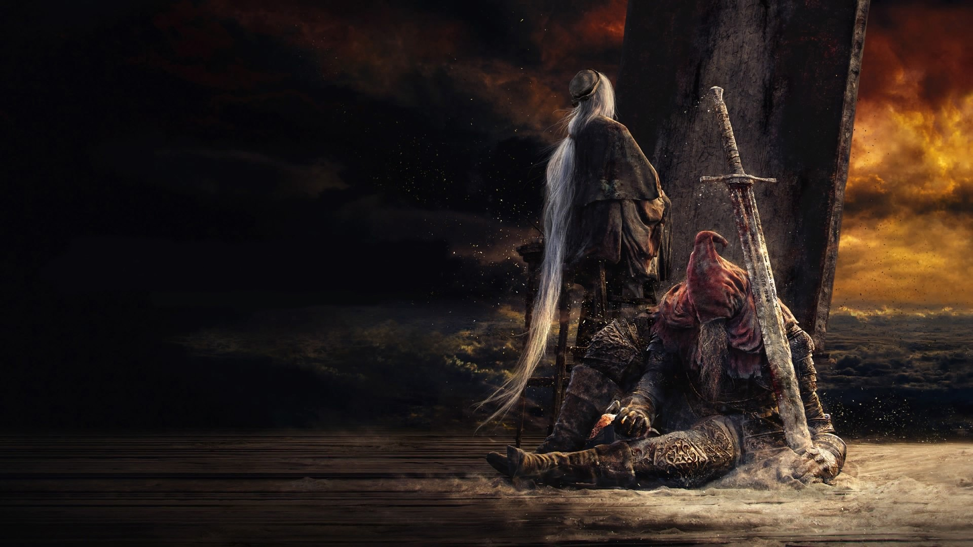 1920x1080 Dark Souls 3, Ashes Of Ariandel, Slave Knight Gael, Artwork