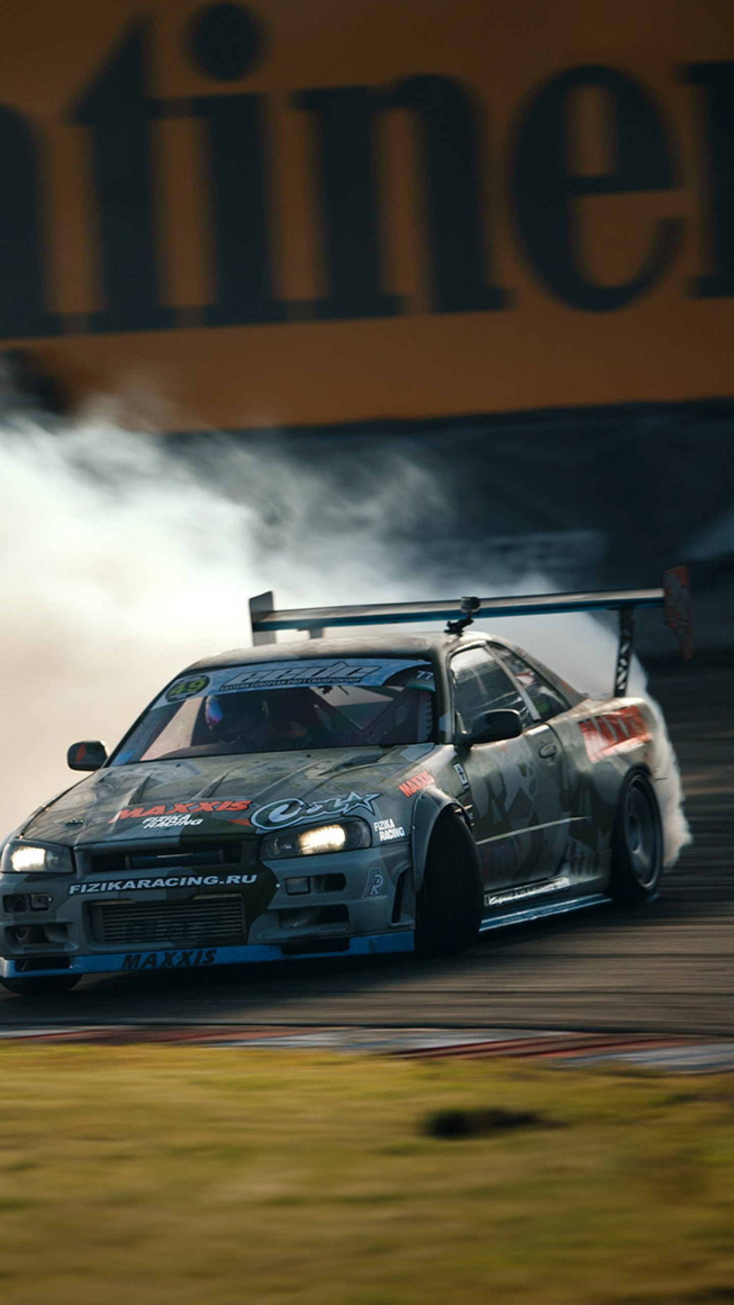 1440x2560 Preview wallpaper nissan, skyline, gtr, drift, r34