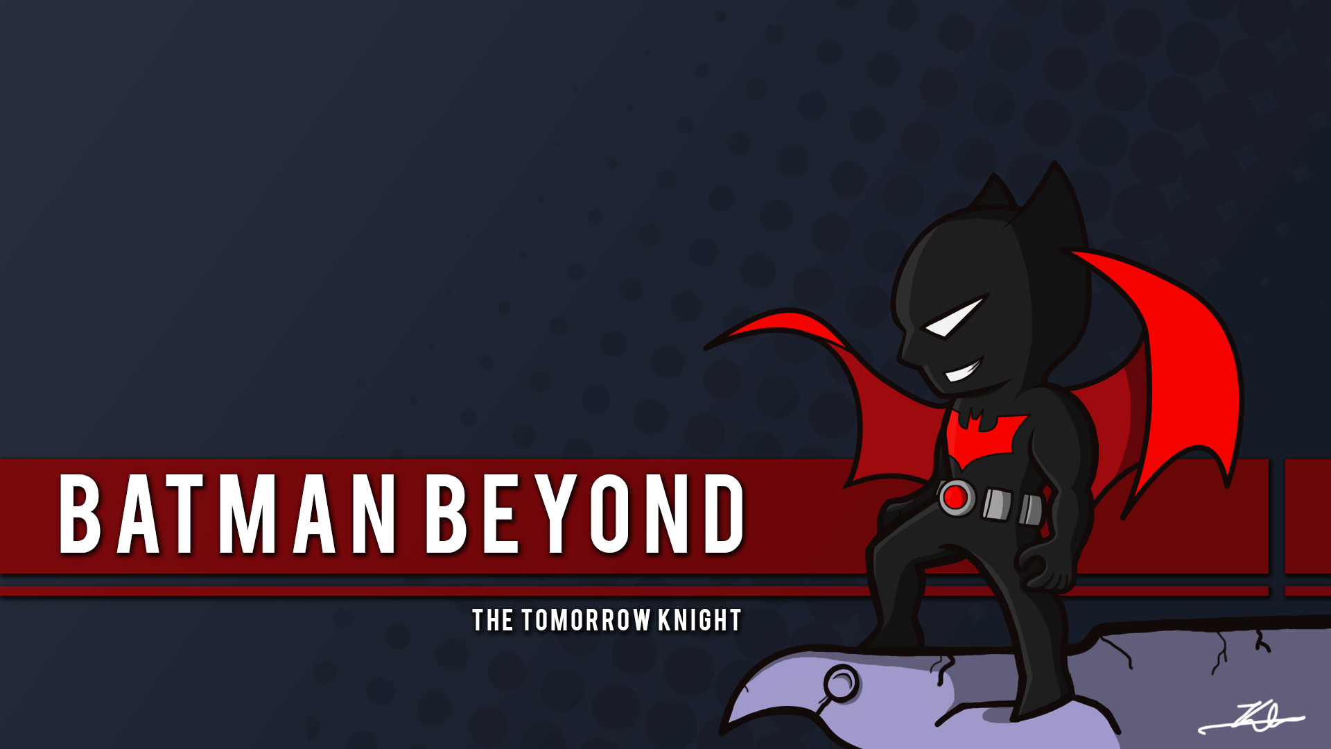 1920x1080 I'm a huge batman Beyond fan. Drew him in the classic Jim Lee pose.
